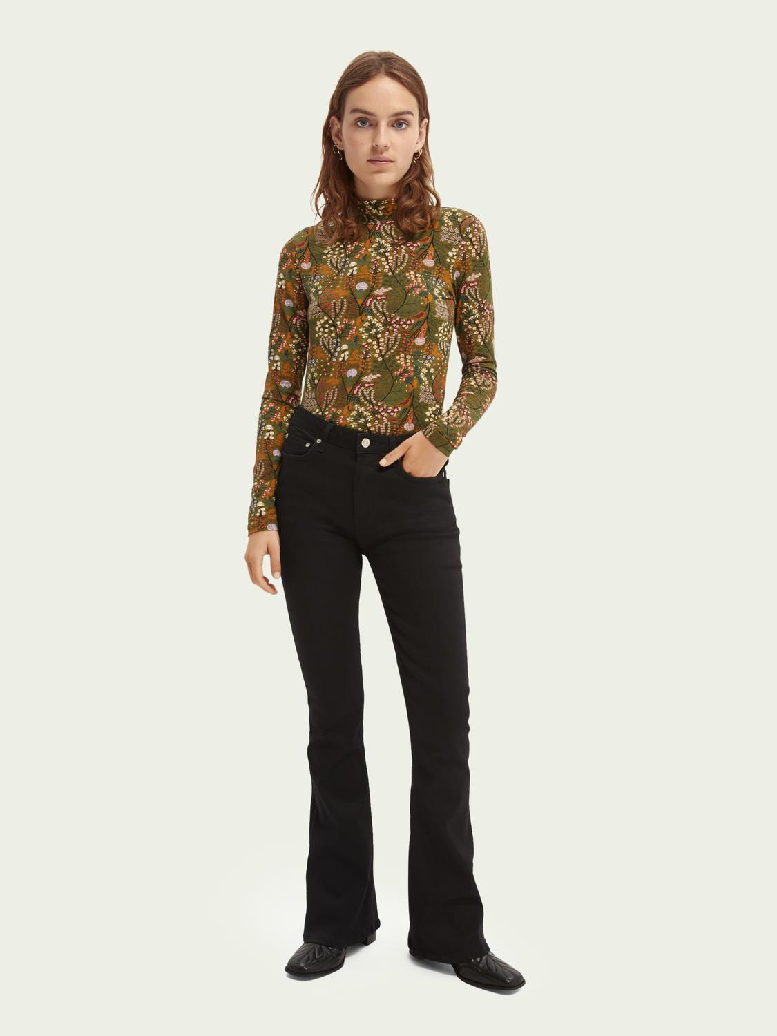 The Charm high-rise flared jeans —Think Different 1