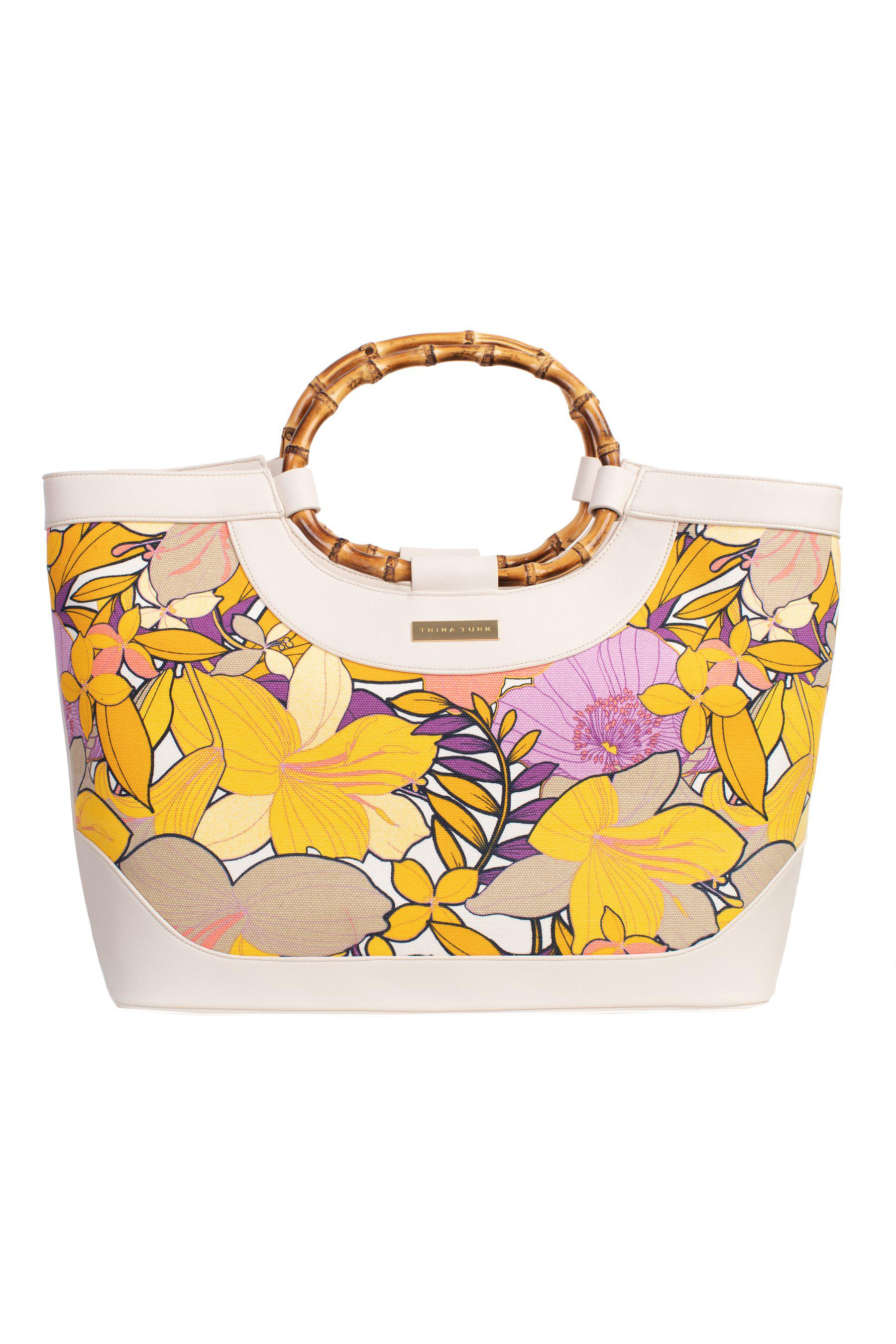 SOLAIRE LILY BAMBOO NAPA TOTE