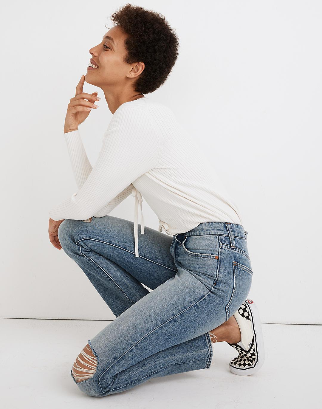 The Perfect Vintage Jean in Phillips Wash: Knee-Rips Edition 1