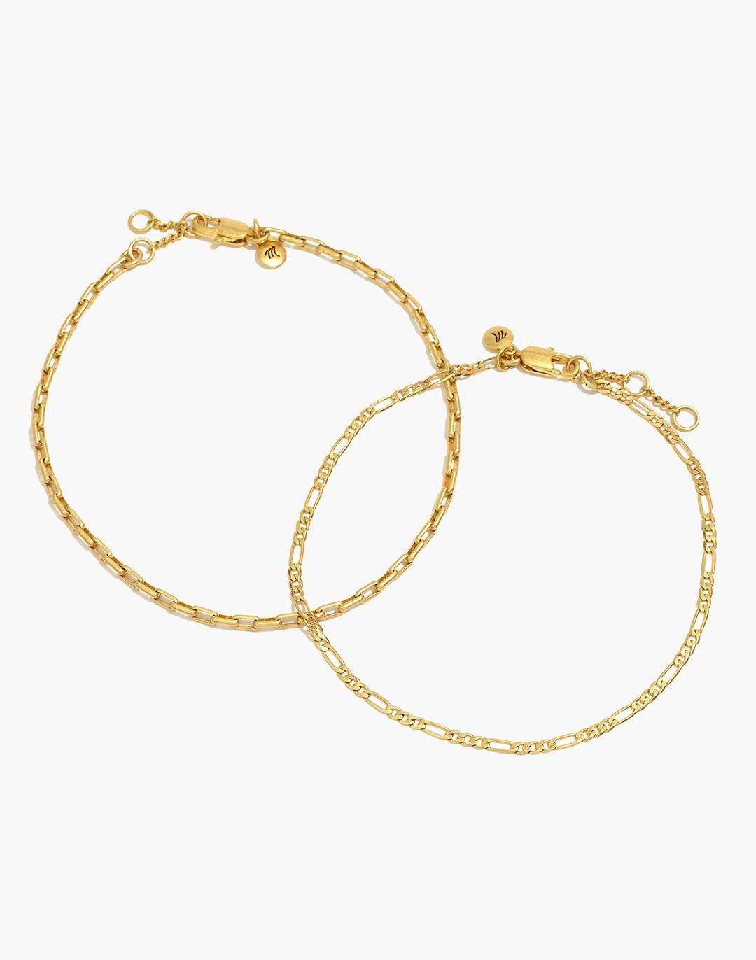 Two-Pack Chain Anklet Set