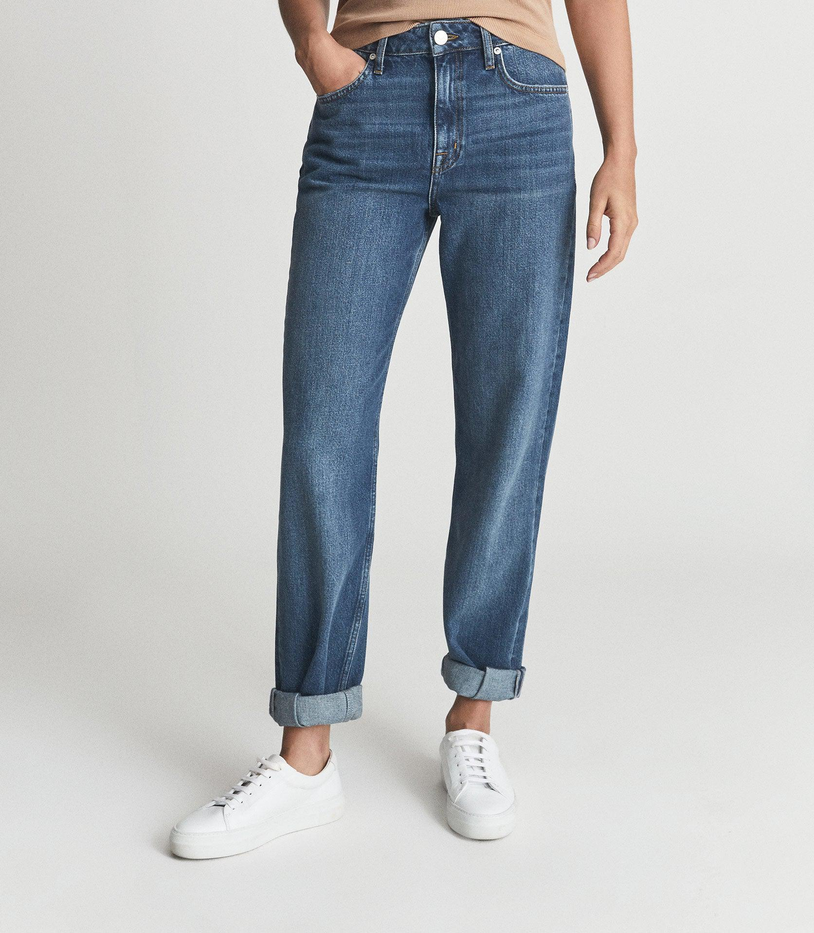 ADELE - MID RISE RELAXED WIDE LEG JEANS 1