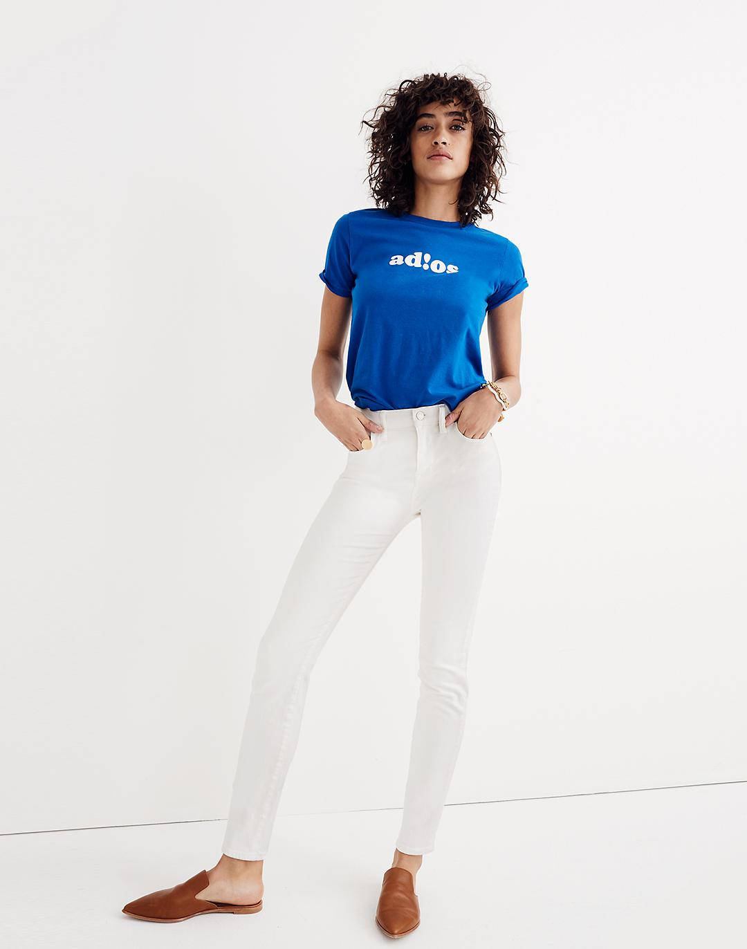 """9"""" High-Rise Skinny Jeans in Pure White"""