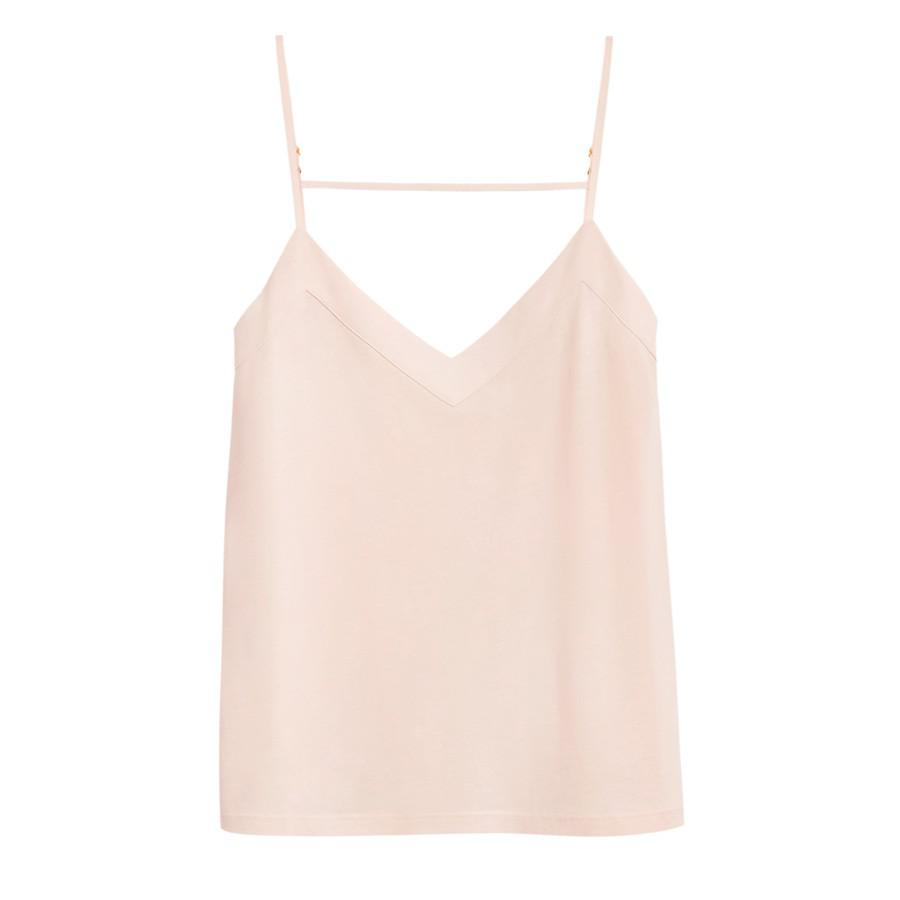 Women's Pima Cami Top in Blush Pink | Size: