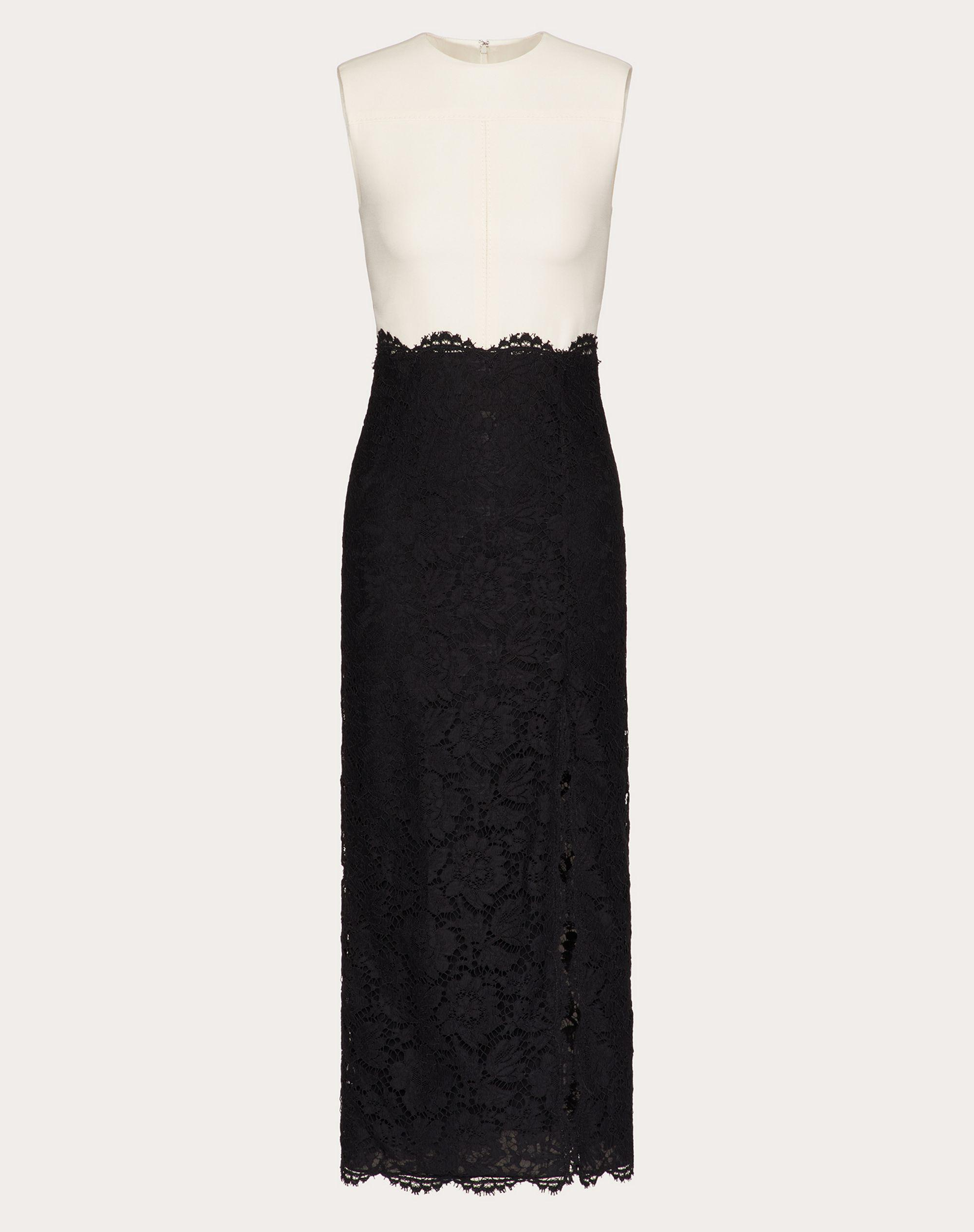 CREPE COUTURE AND HEAVY LACE DRESS 4