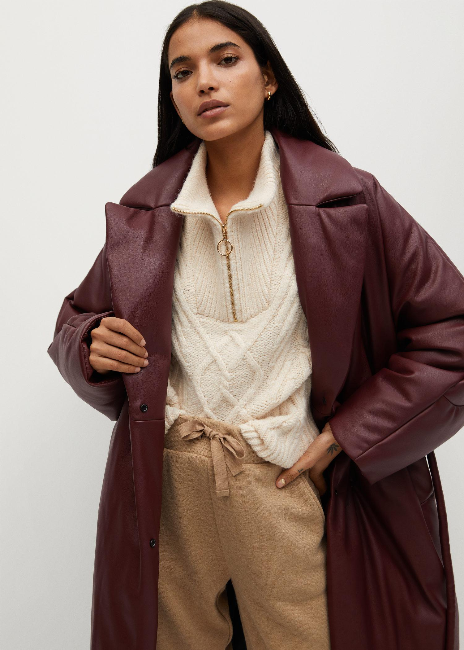 Oversize quilted coat 6