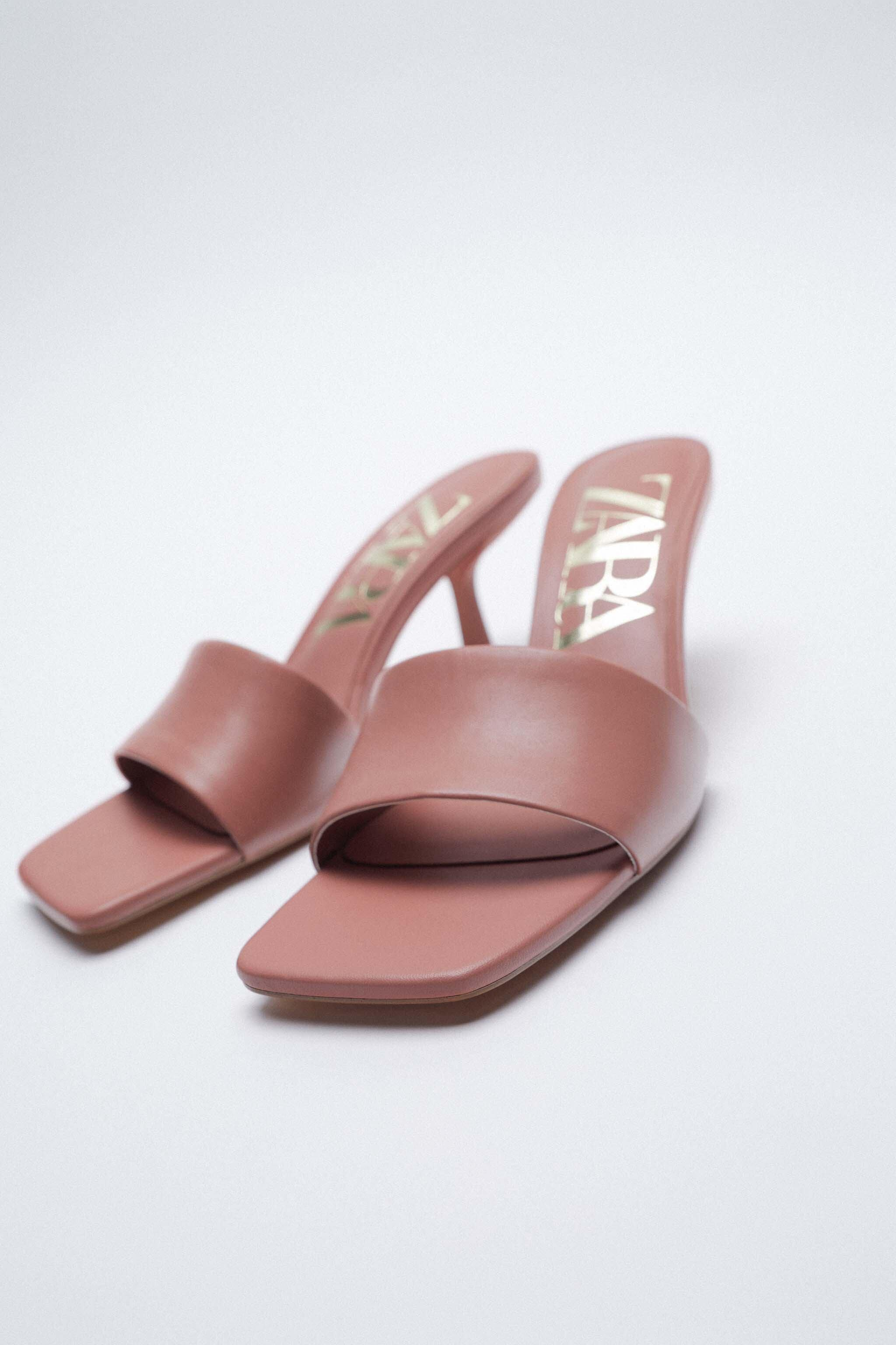 PADDED HEELED LEATHER SANDALS 1