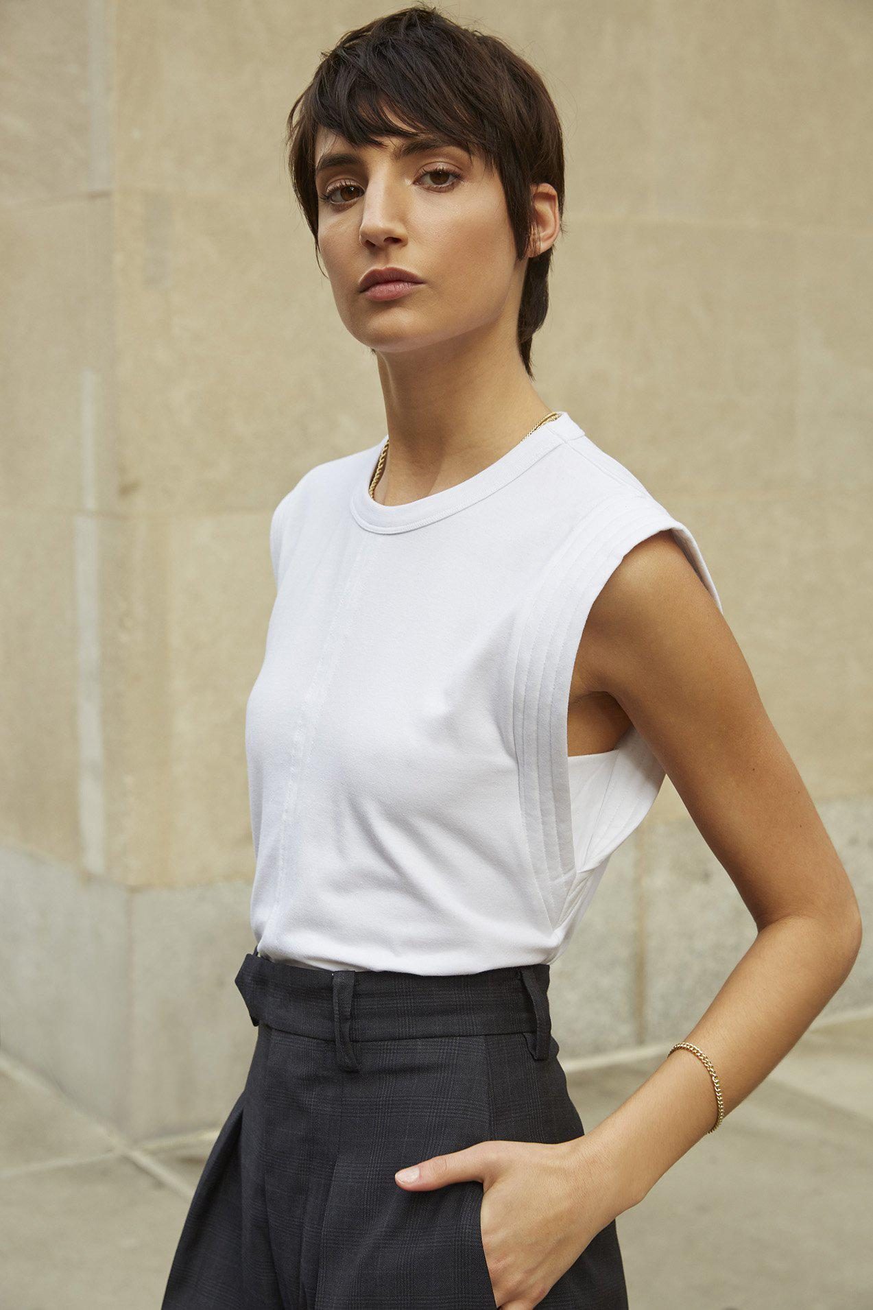 The Gimme That Shoulder Tee in White 6