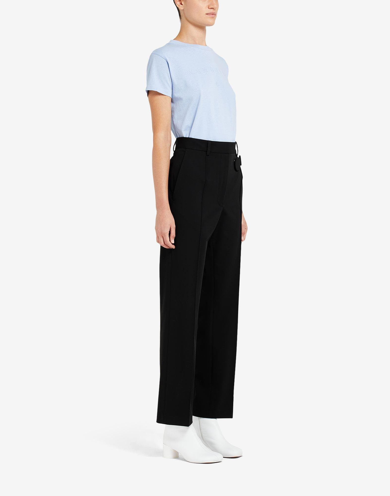 Badge pleated trousers 1