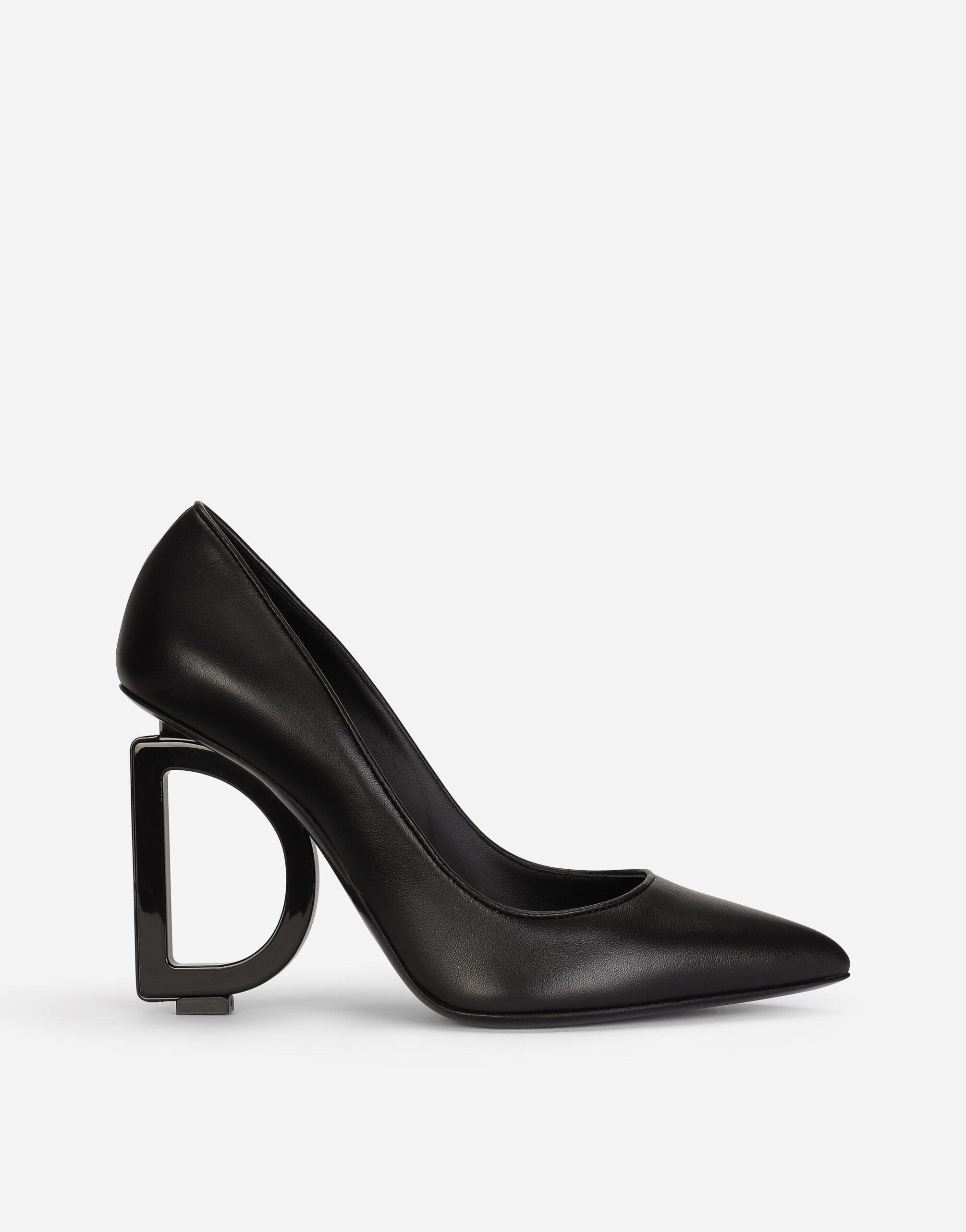 Nappa leather pumps with DG heel