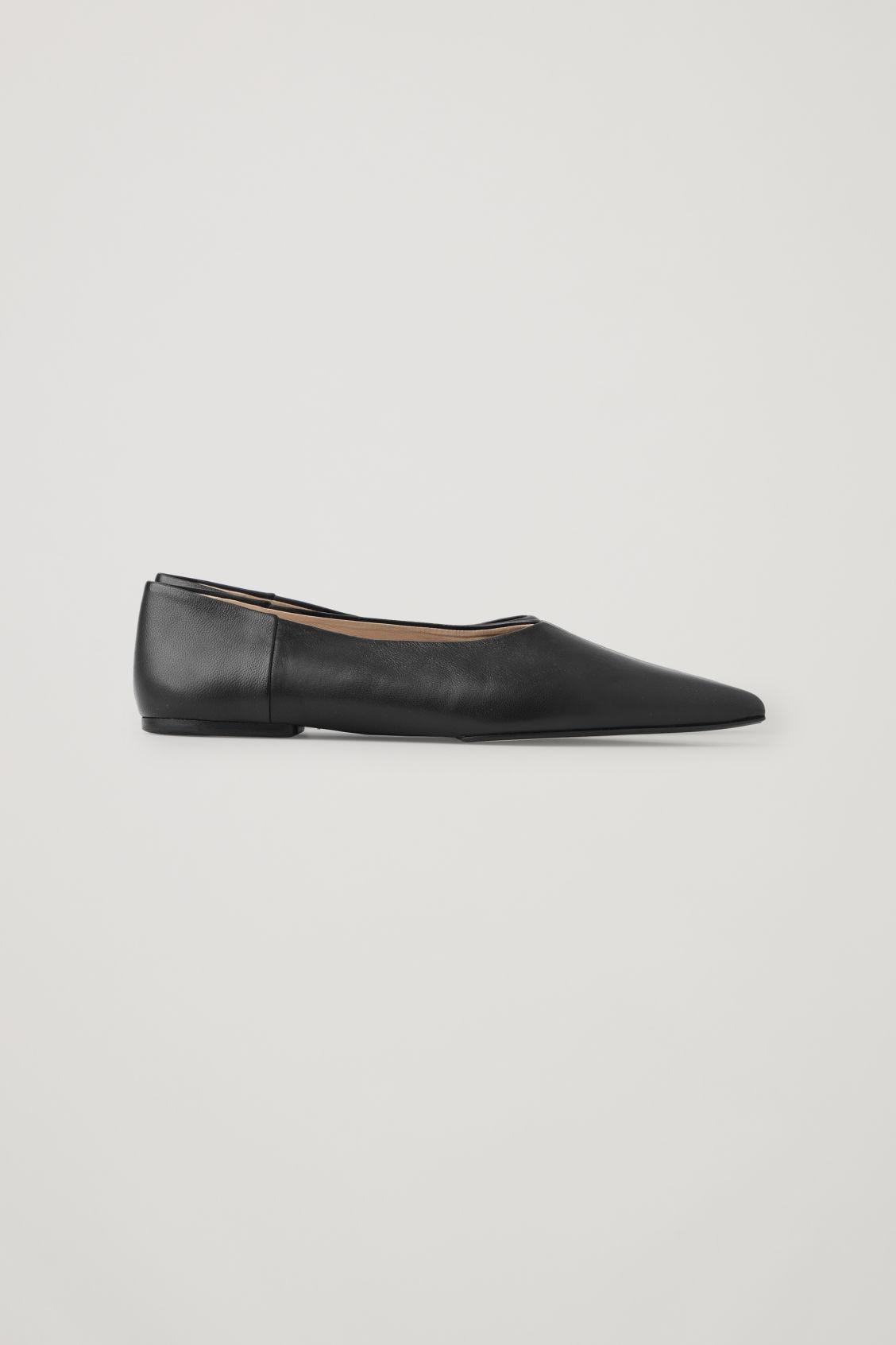 POINTED LEATHER BALLET FLATS 2