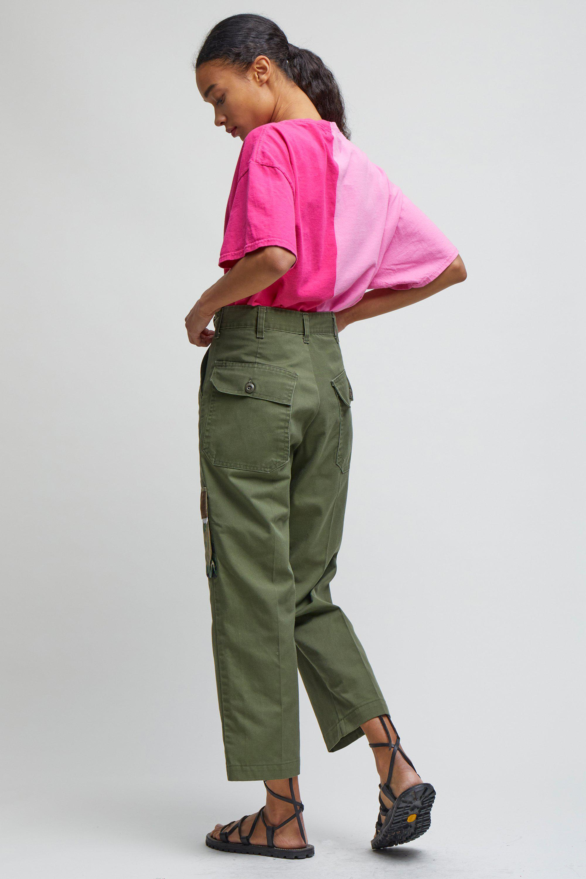 CROPPED CARGO TROUSERS - XS