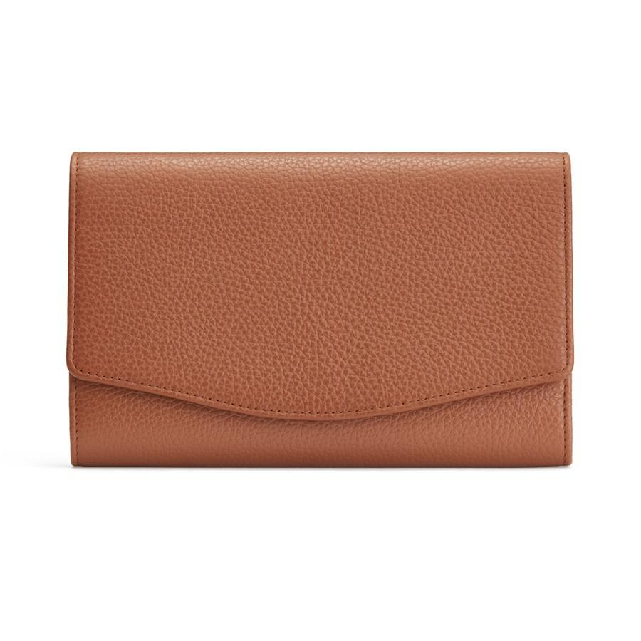 Women's Convertible Clutch Bag in Caramel | Pebbled Leather by Cuyana