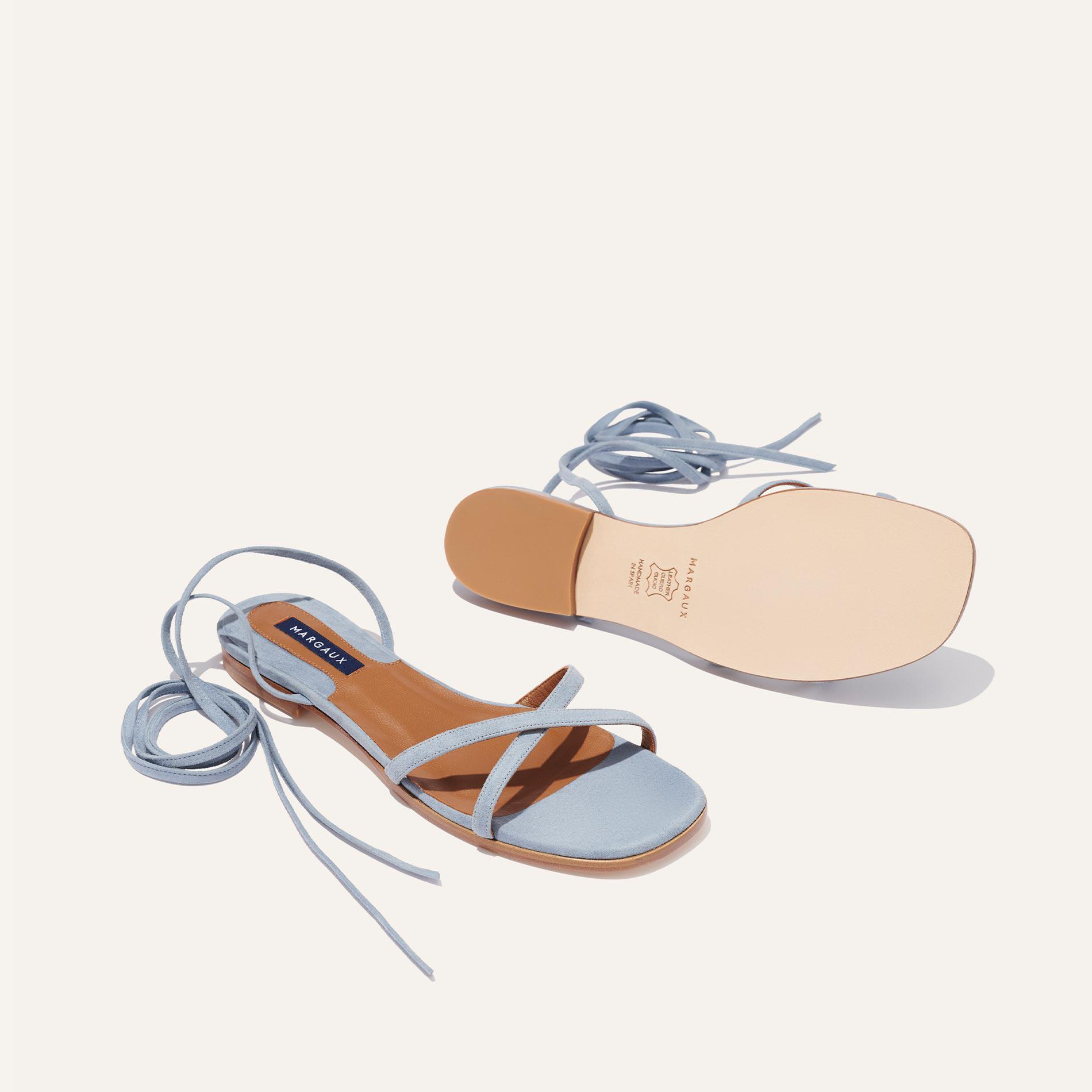 The Wrap Sandal - French Blue Suede 3