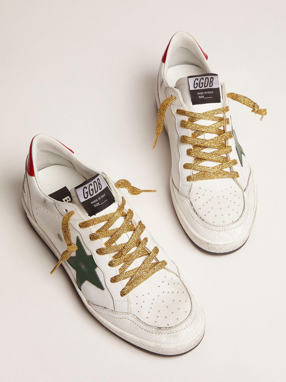 Ball Star sneakers with green star and red heel tab 1