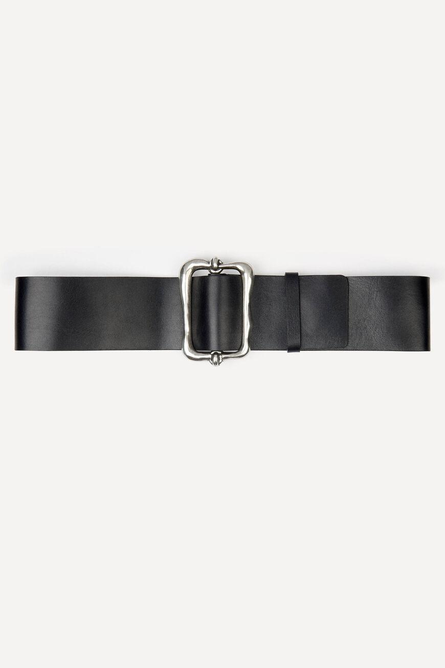 blaire.WIDE LEATHER BELT