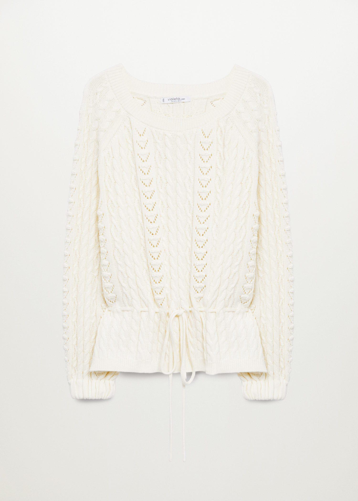 Openwork cable-knit sweater 7