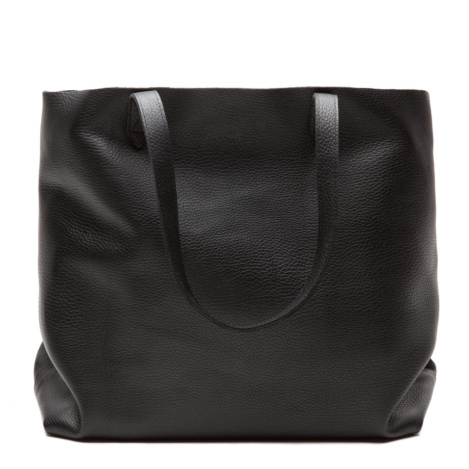 Women's Classic Leather Tote Bag in Black | Pebbled Leather by Cuyana