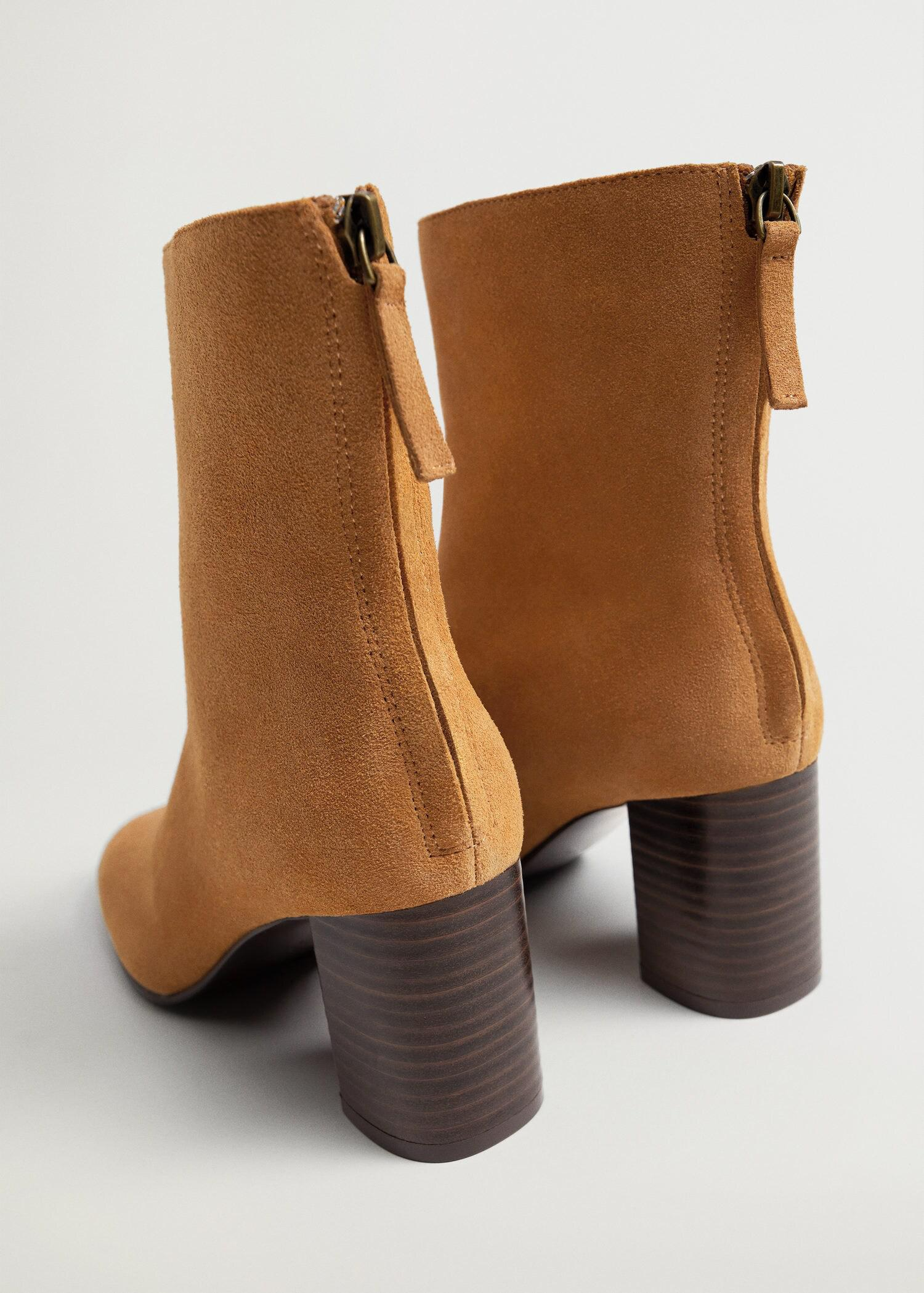 Suede leather ankle boots 2