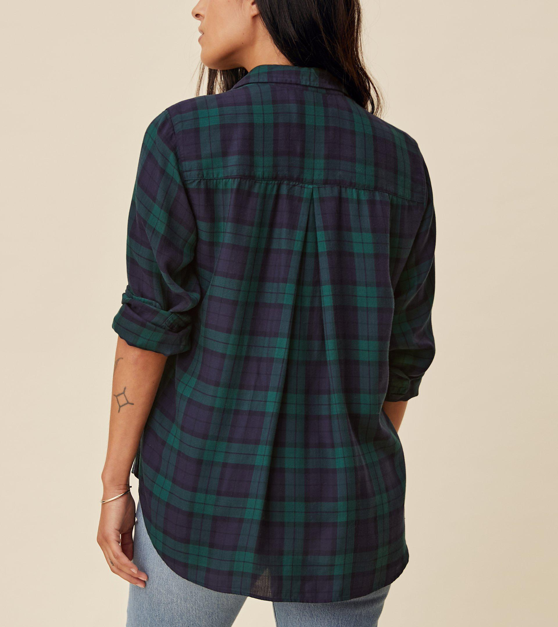 The Hero Navy with Green Plaid, Liquid Flannel 2