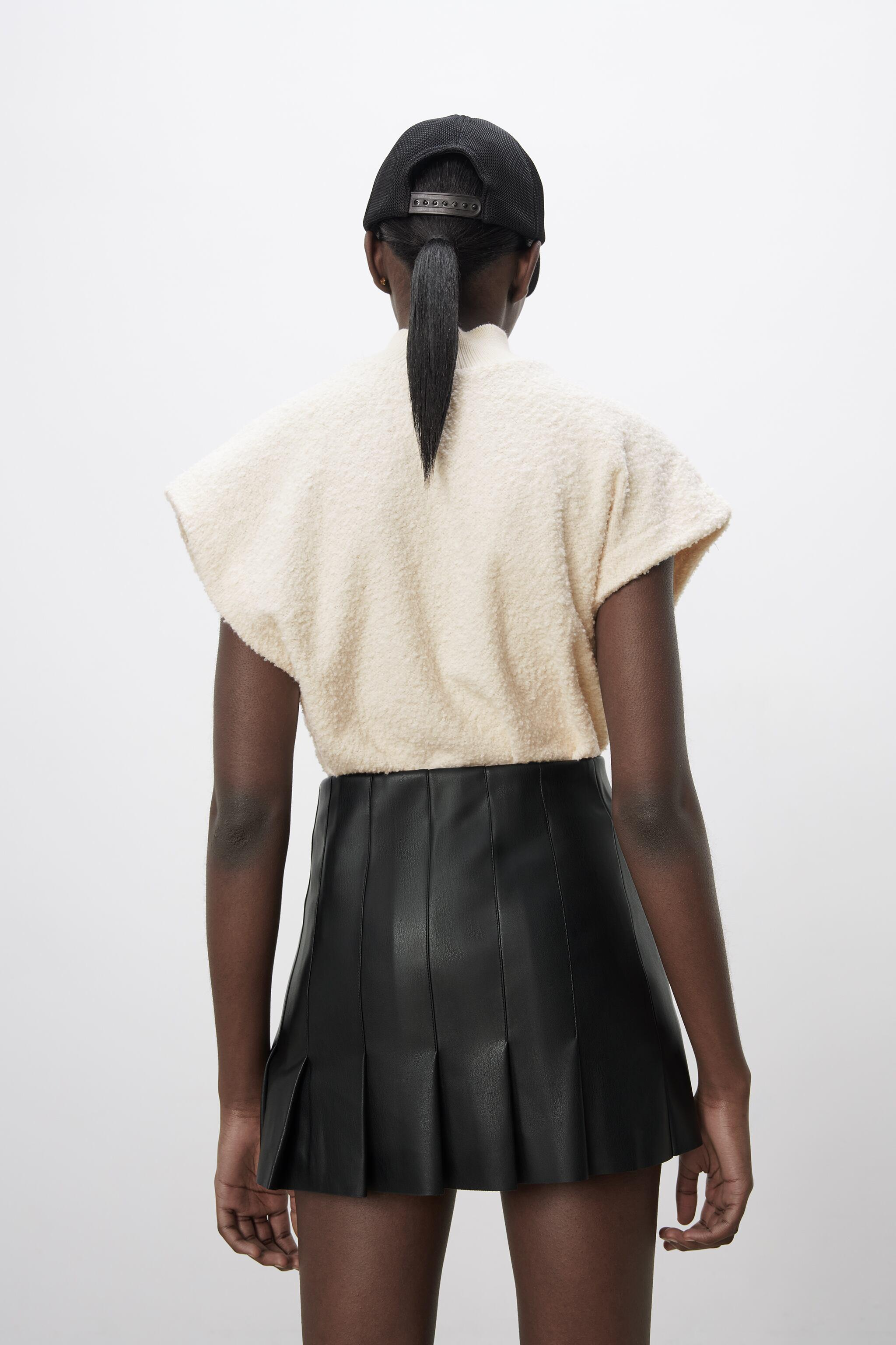 FAUX LEATHER BOX PLEAT SKIRT 4