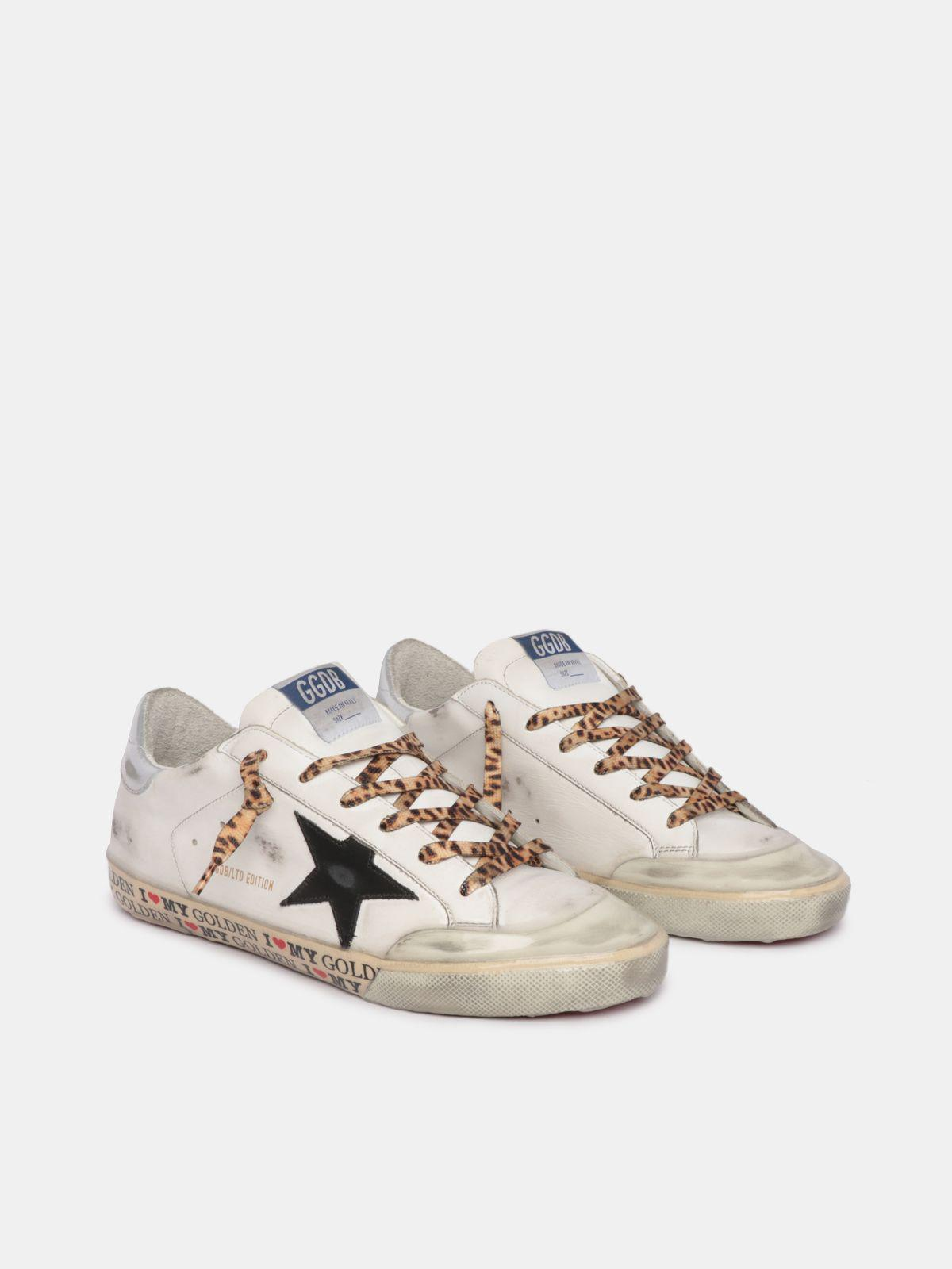 LTD Super-Star sneakers with decorations on the foxing and leopard-print laces 2