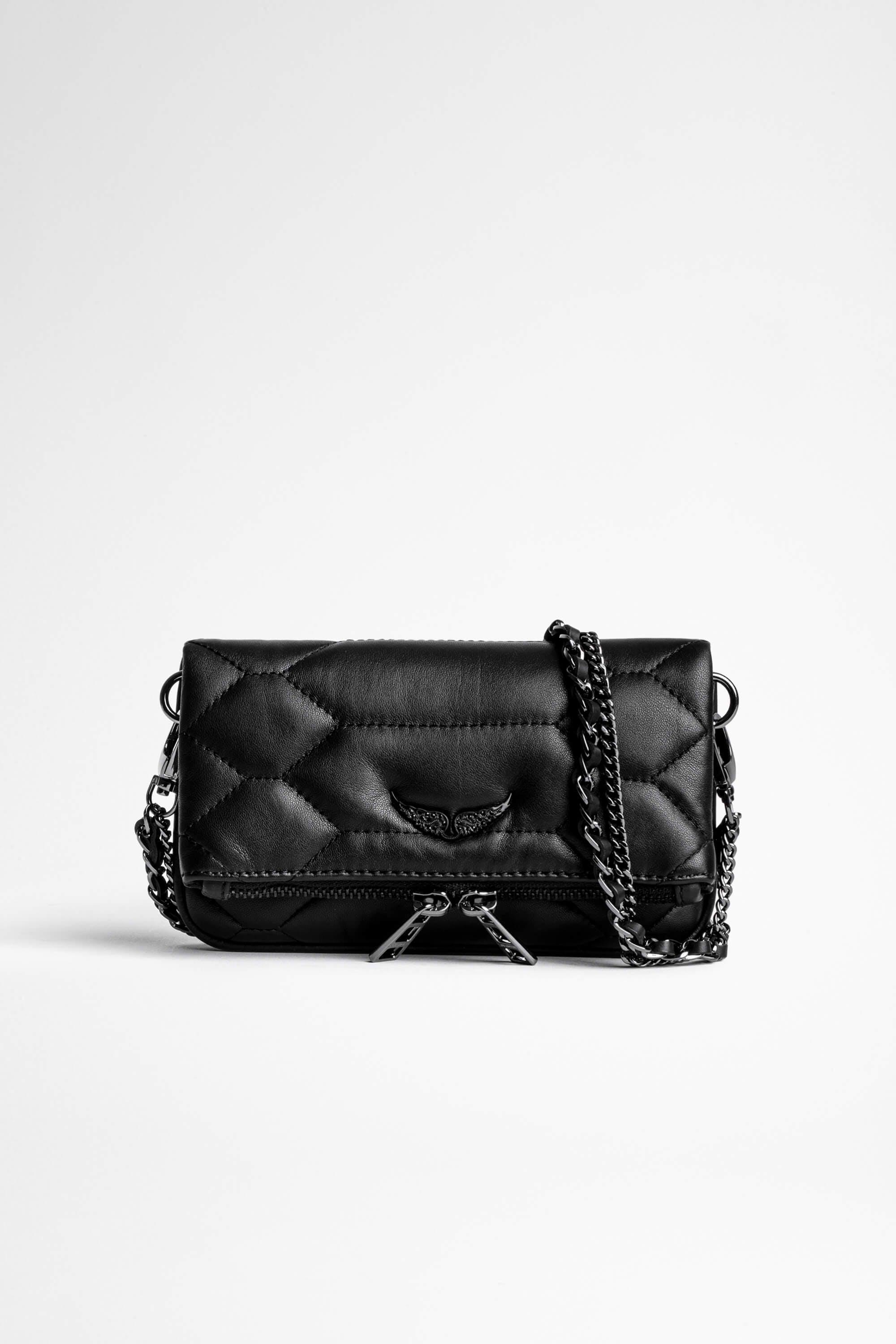 Rock Nano Quilted Leather Clutch