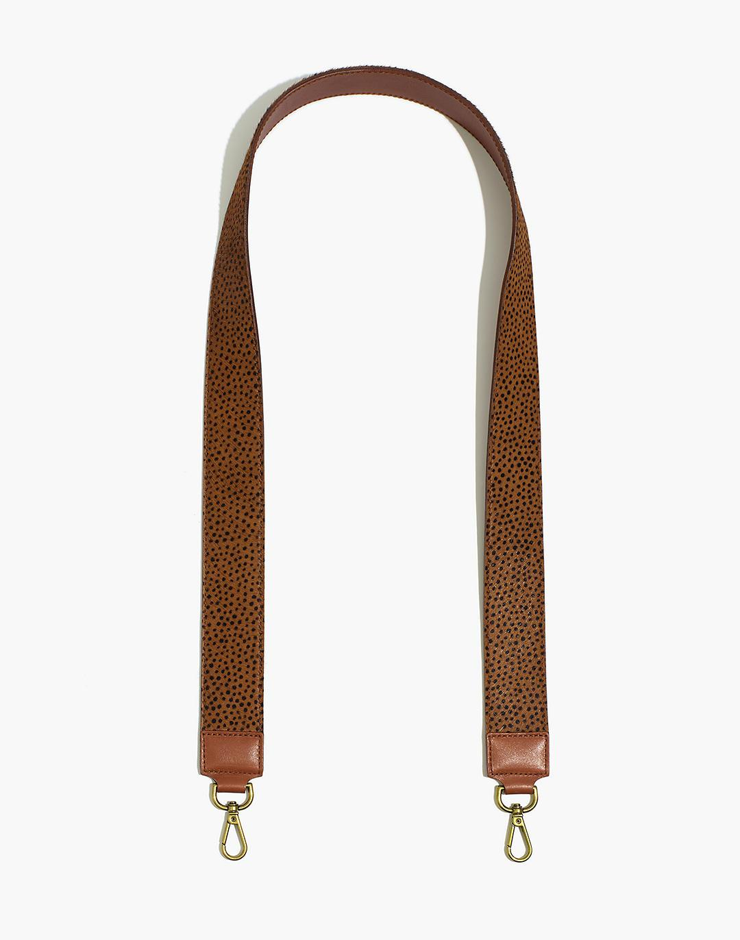 The Crossbody Bag Strap: Spotted Calf Hair Edition