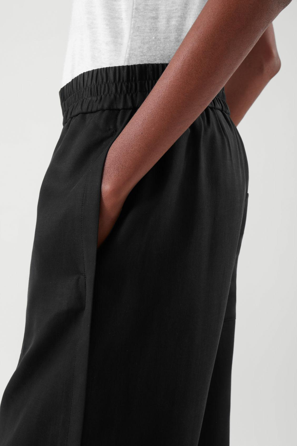 ELASTICATED RELAXED-LEG TROUSERS 6