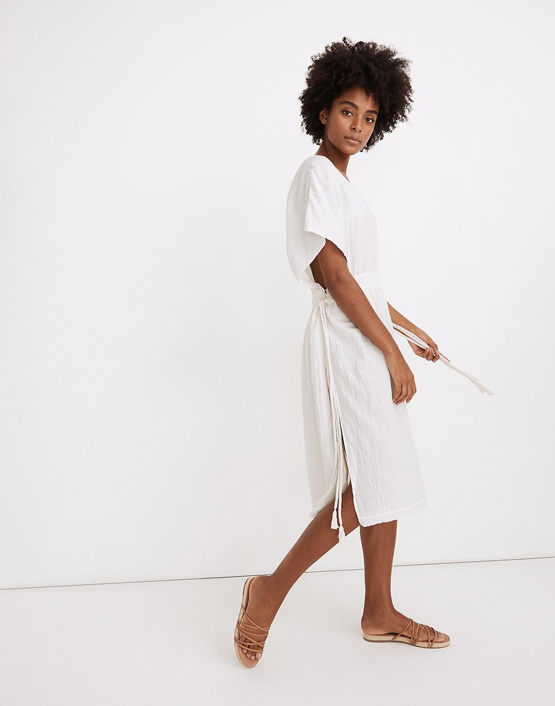 Double Gauze Side-Tie Cover-Up Dress 1