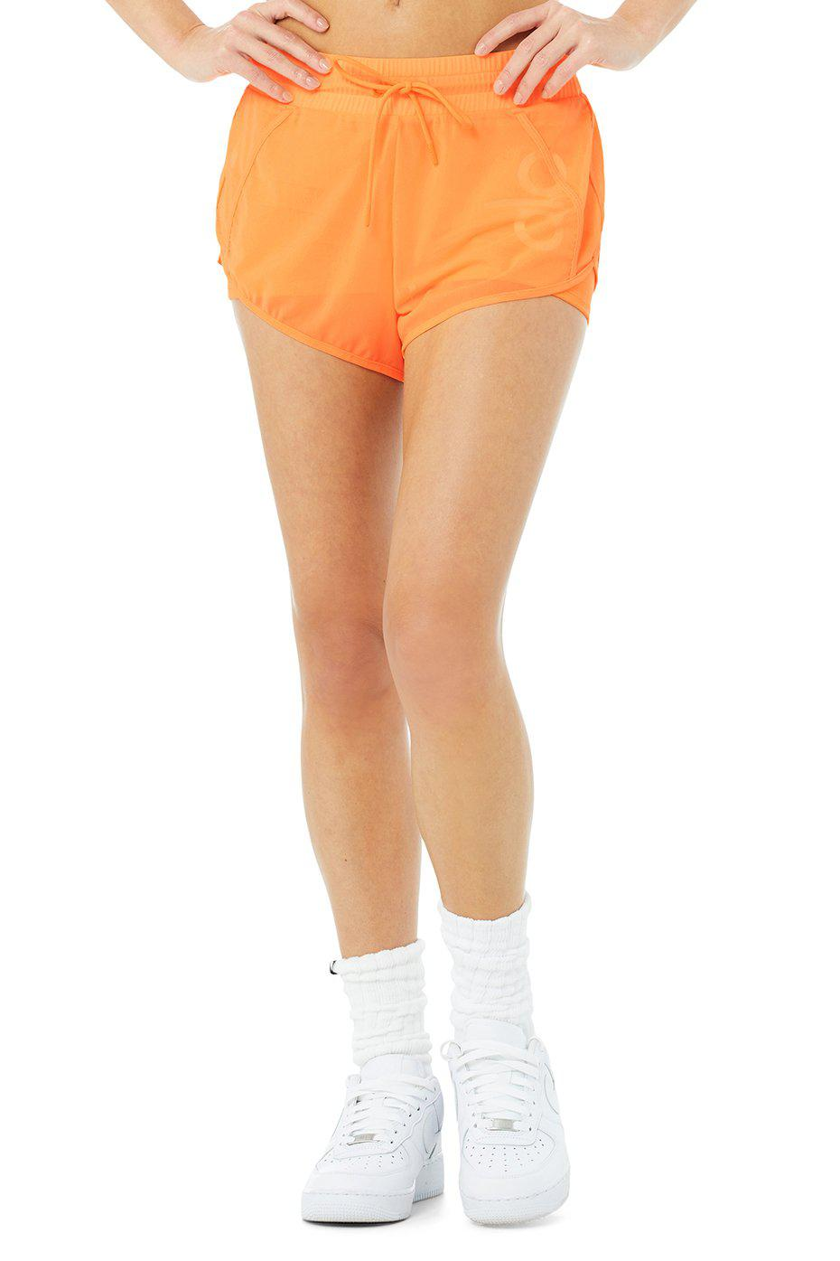 Ambience Short - Neon Apricot/White
