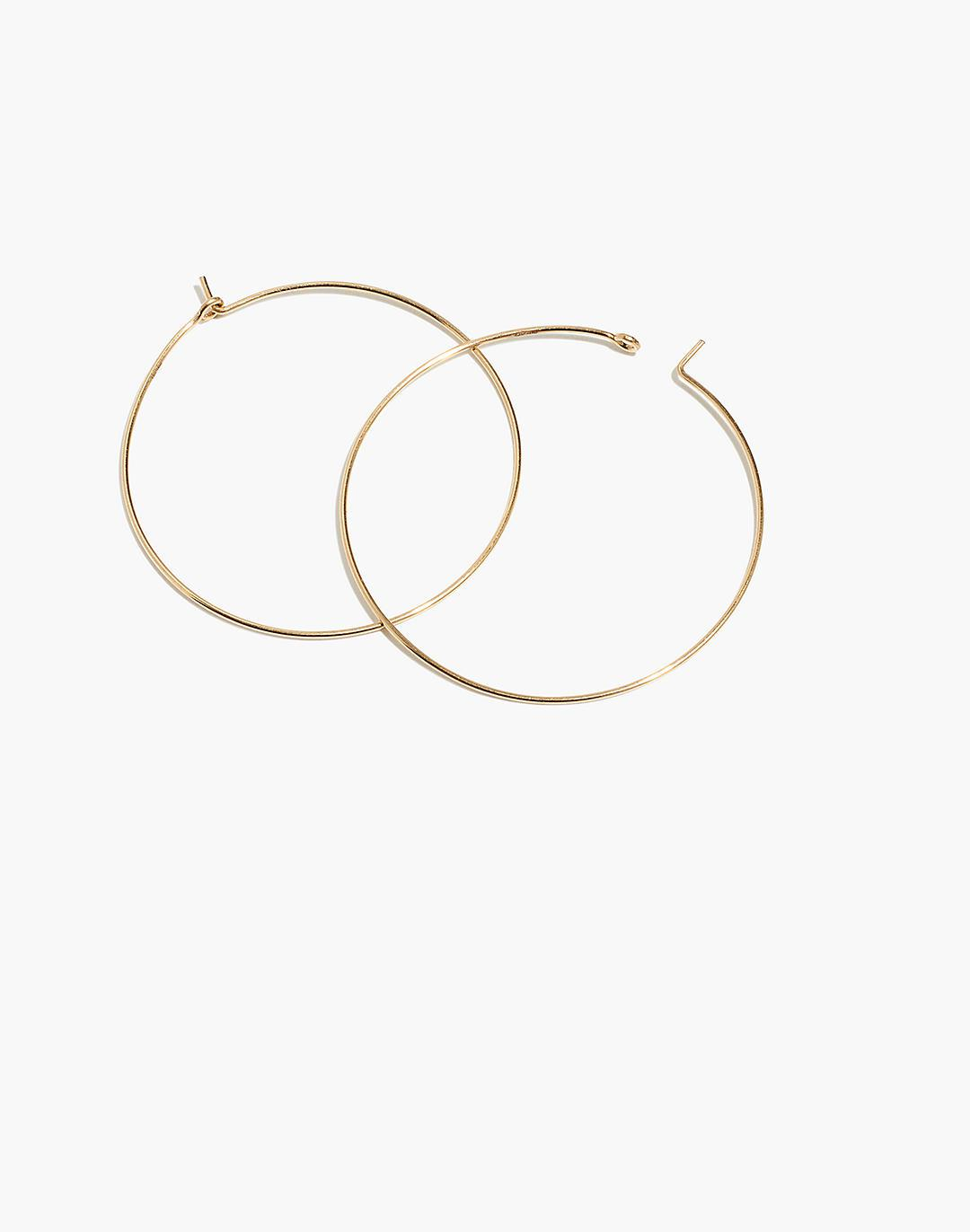 Delicate Collection Demi-Fine 14k Gold-Filled Large Hoop Earrings