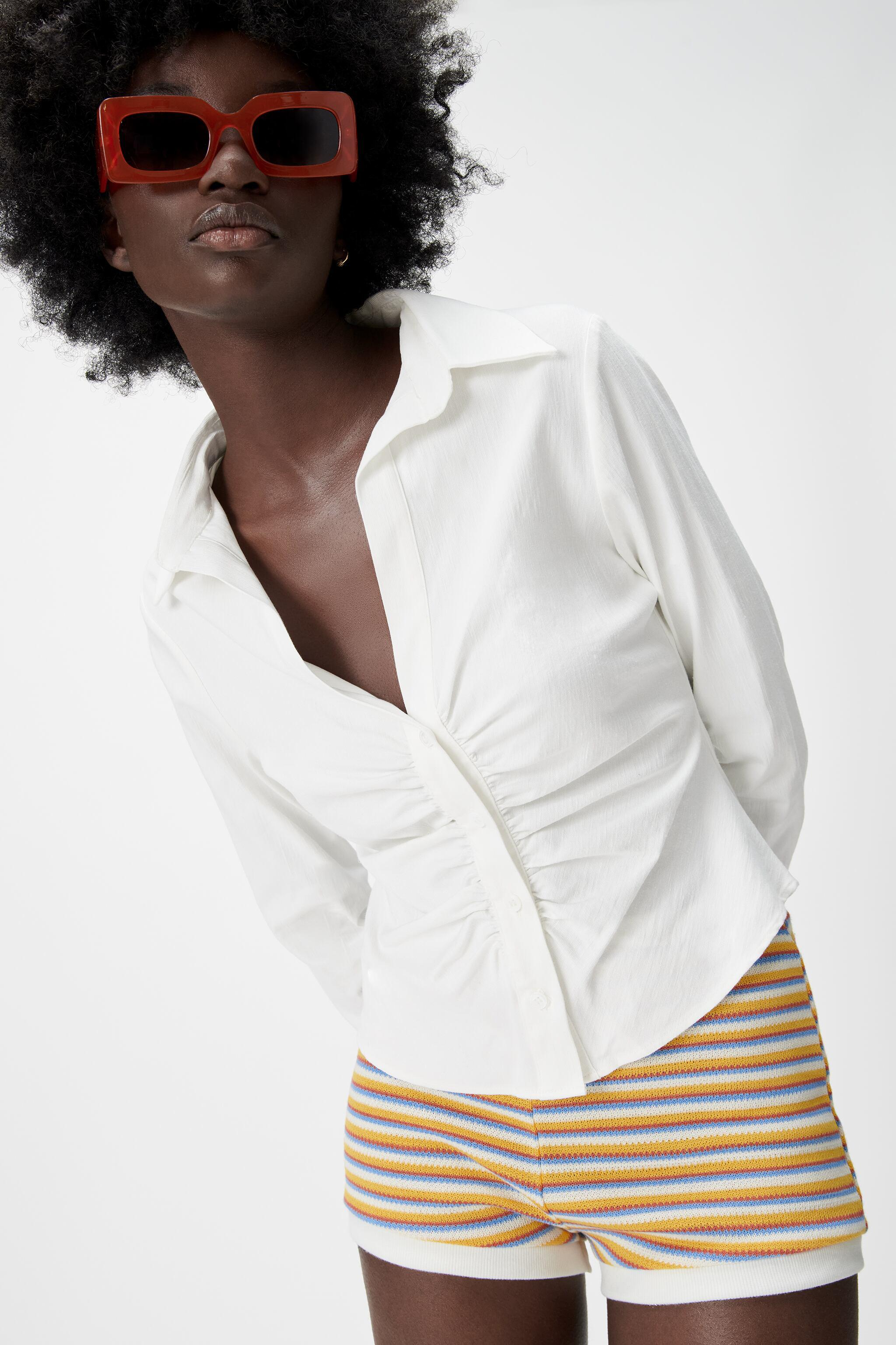 PLEATED TAILORED SHIRT 1