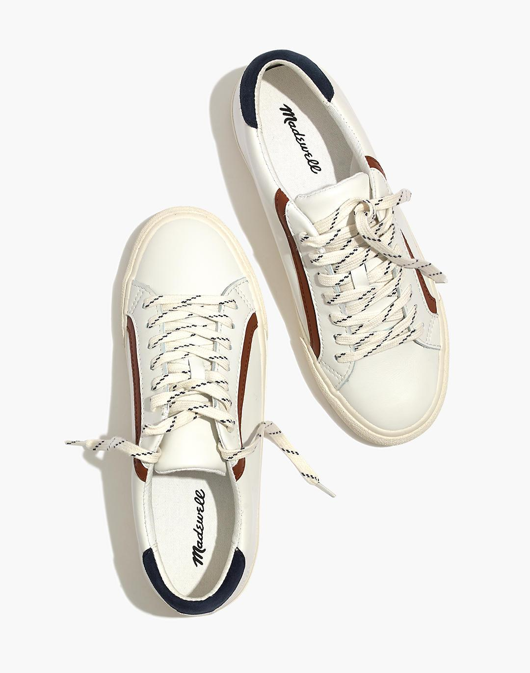 Sidewalk Low-Top Sneakers in Leather and Suede