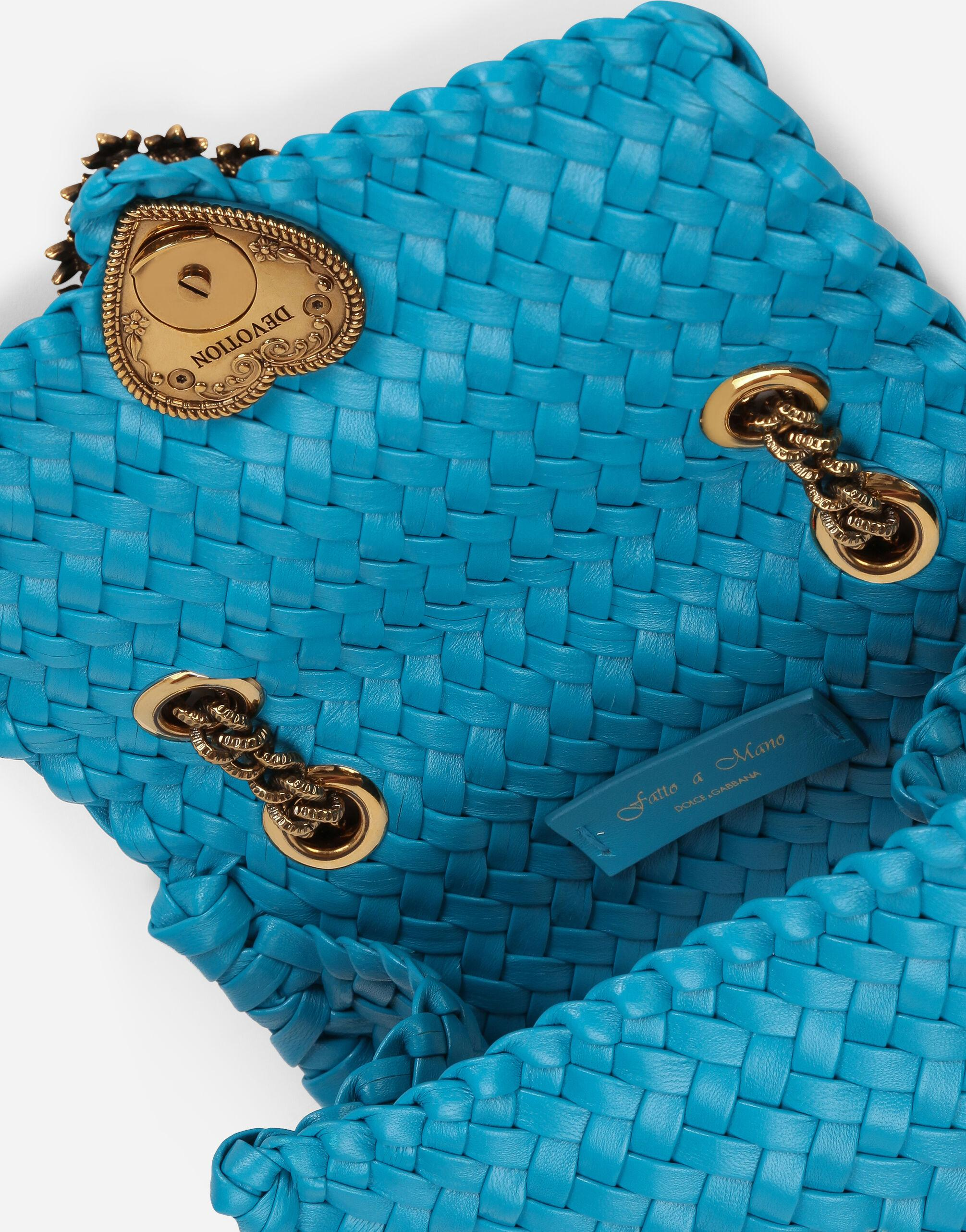 Small Devotion shoulder bag in woven nappa leather 4