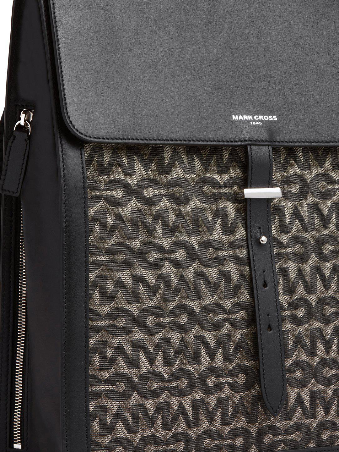 Andy MC Jacquard & Leather Backpack 1