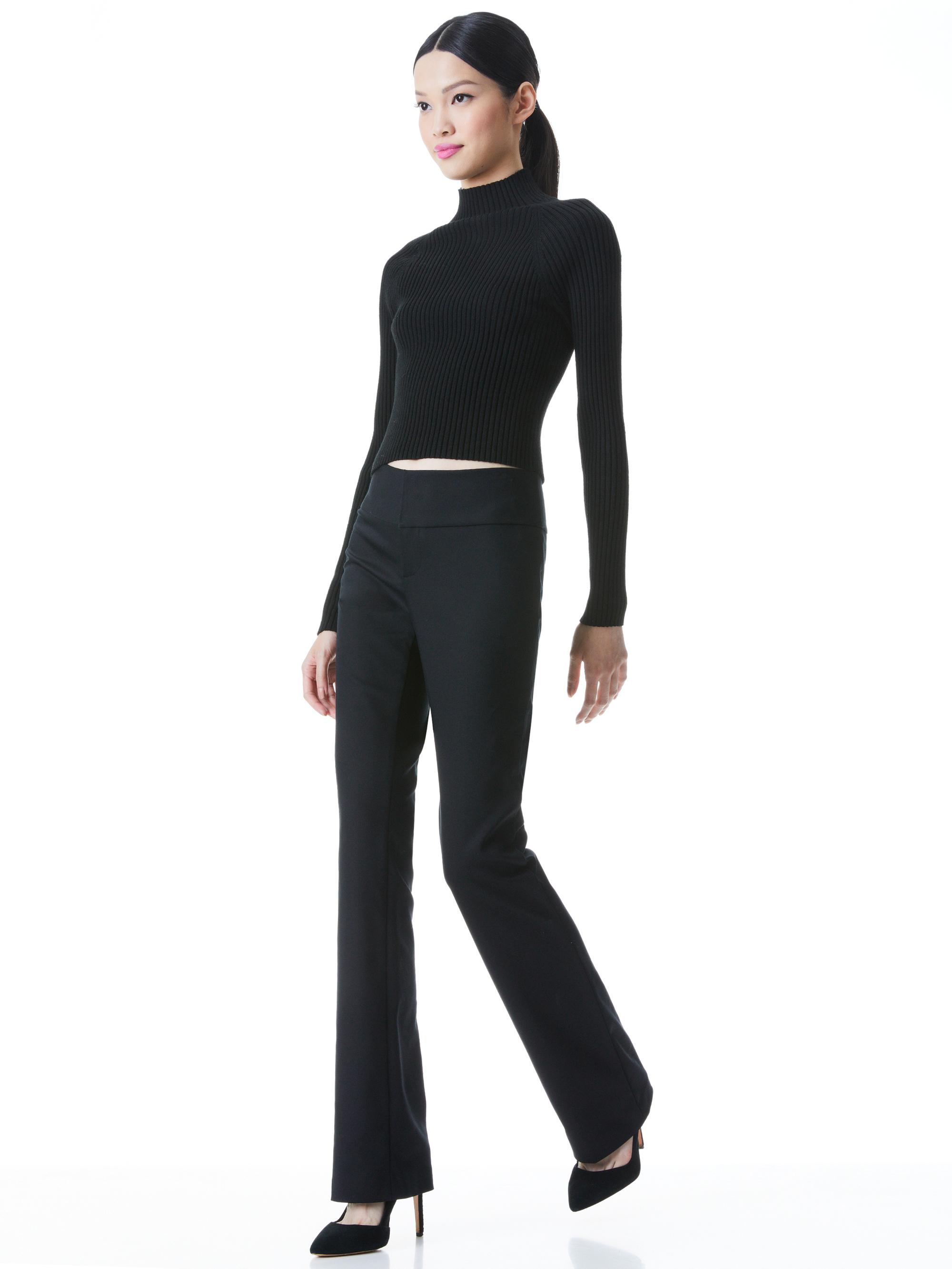 IRENA MOCK NECK CROPPED PULLOVER 2