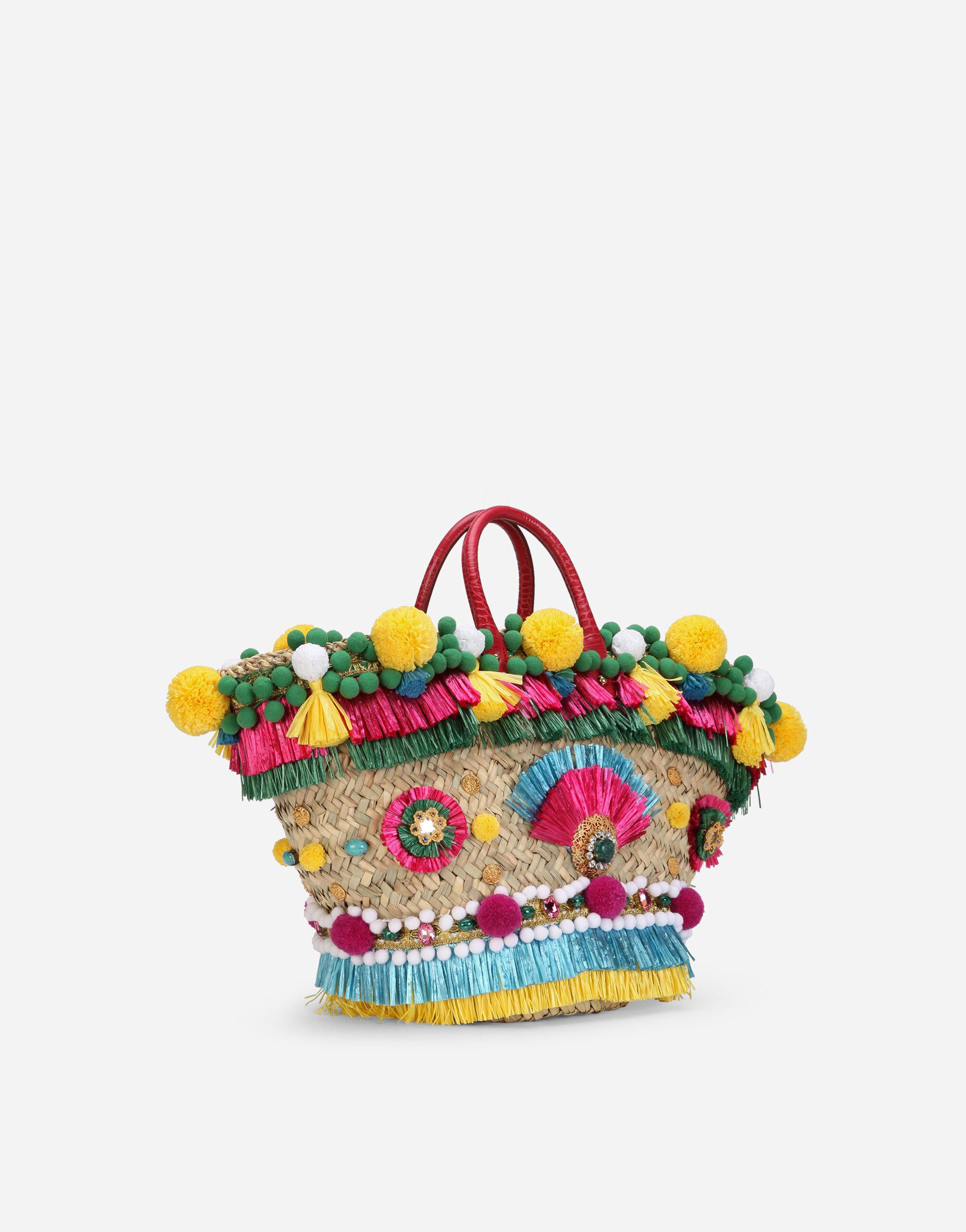 Straw Kendra coffa bag with embroidery 1