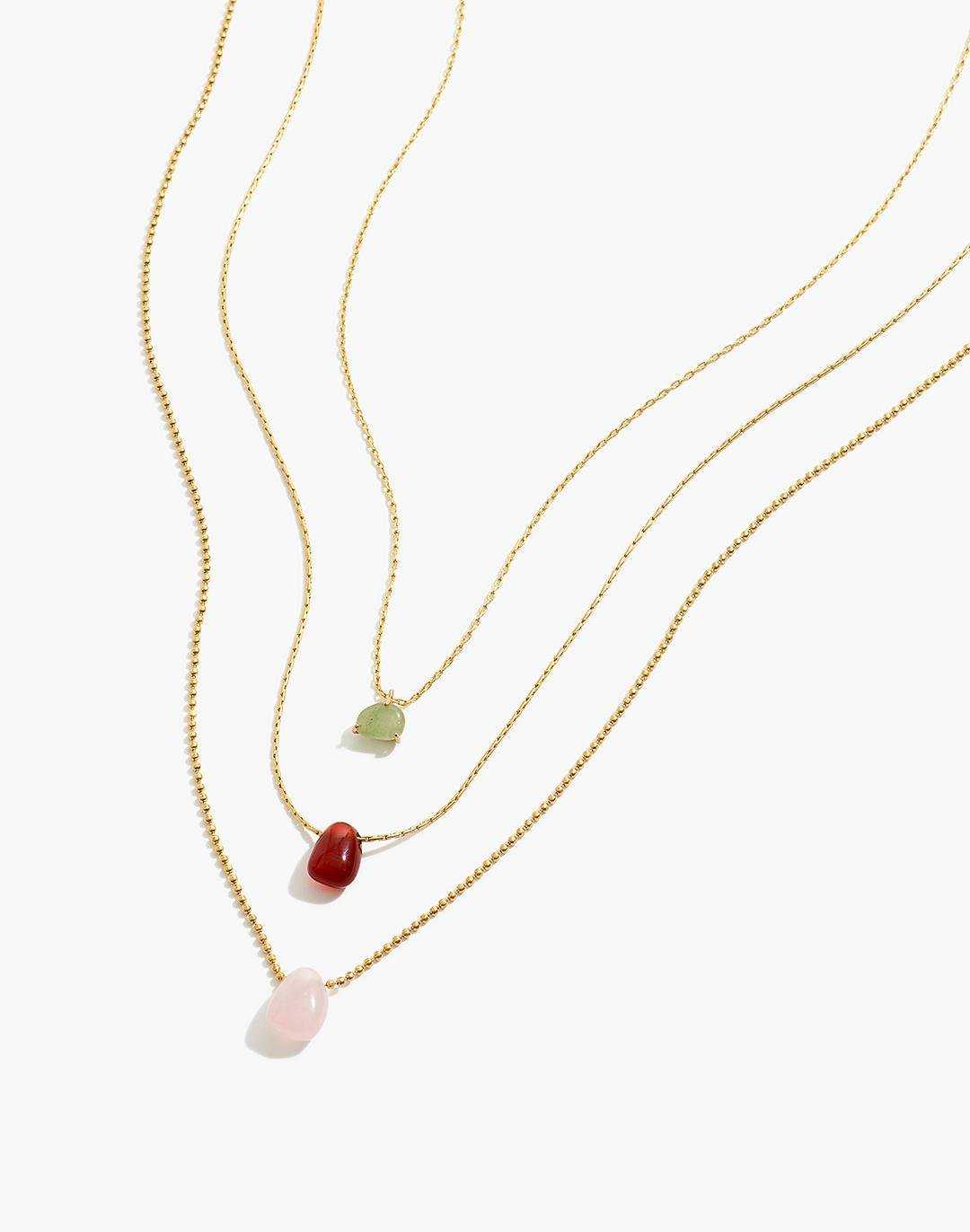 Stone Collection Necklace Set