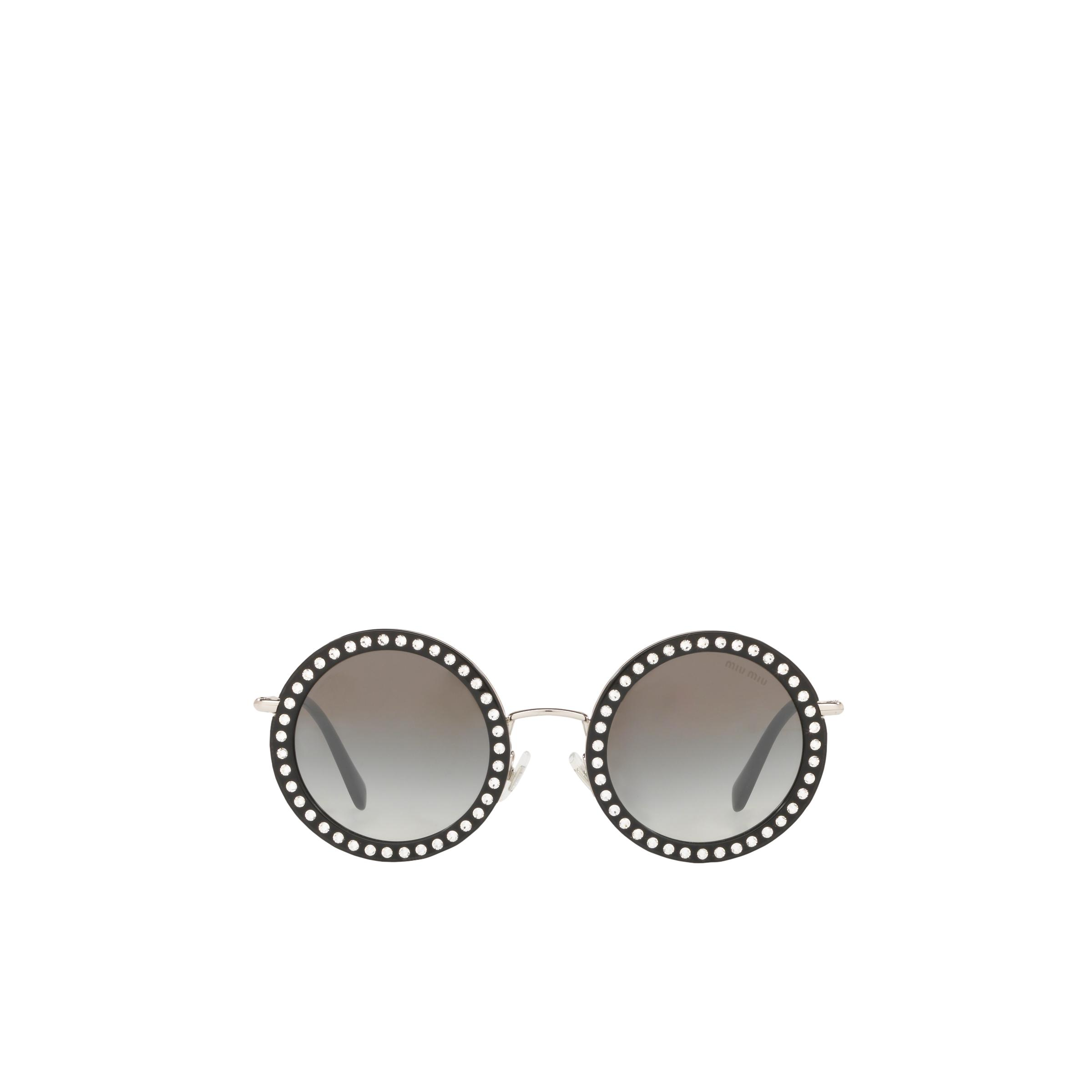 Délice Sunglasses Women Anthracite Gray To Lake Blue Gradient Lenses With Silver Mirror Finish