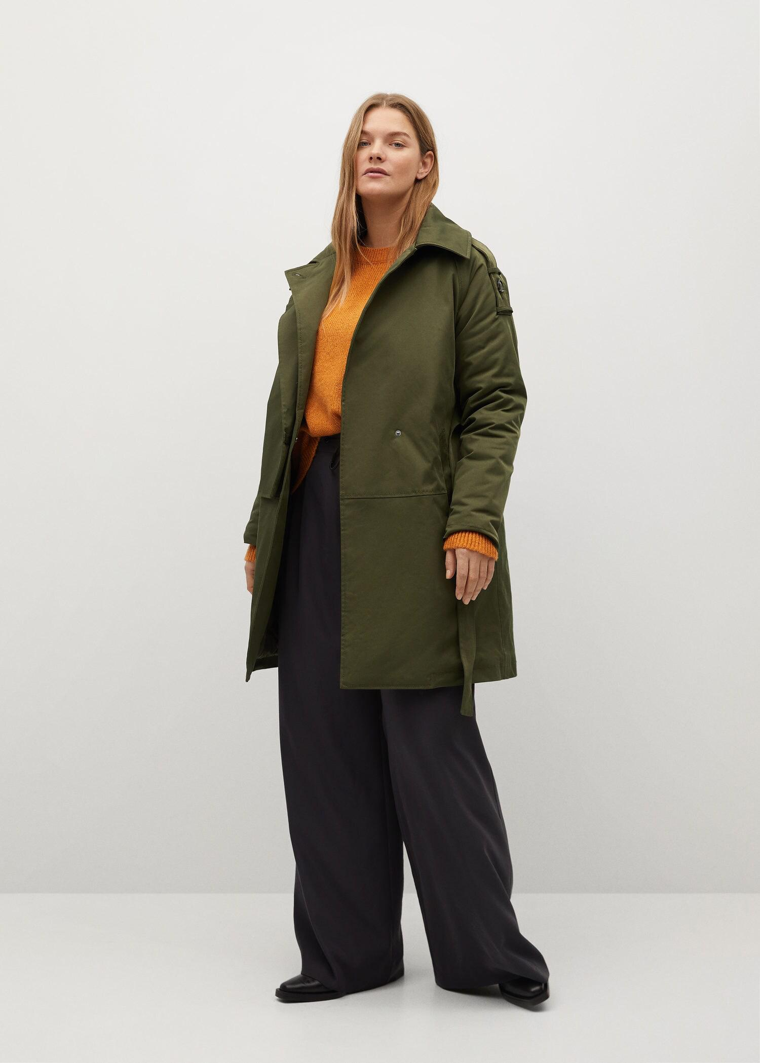 Parka with camp-collar