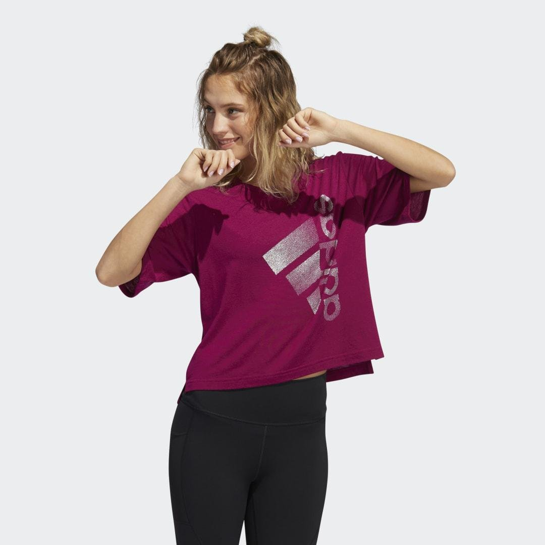 Holiday Tee Power Berry XL - Womens Training T Shirts 4