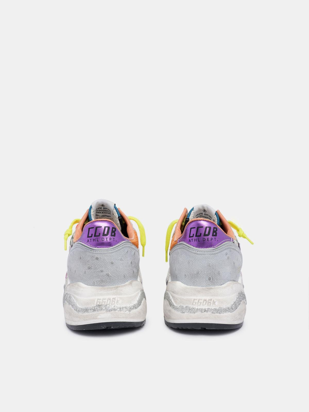 Holographic Running Sole sneakers with animal-print inserts 1