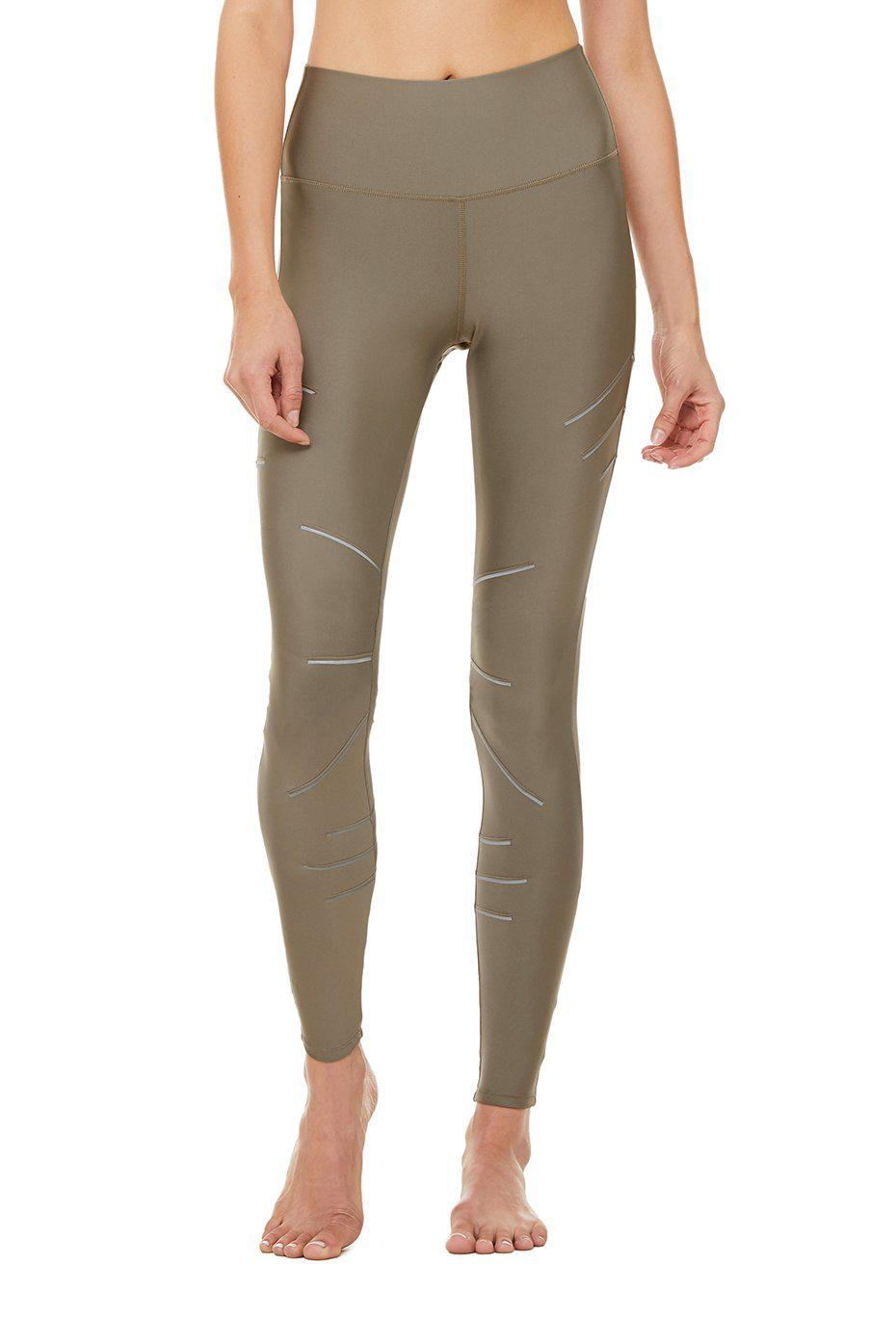 High-Waist Sequence Legging - Olive Branch