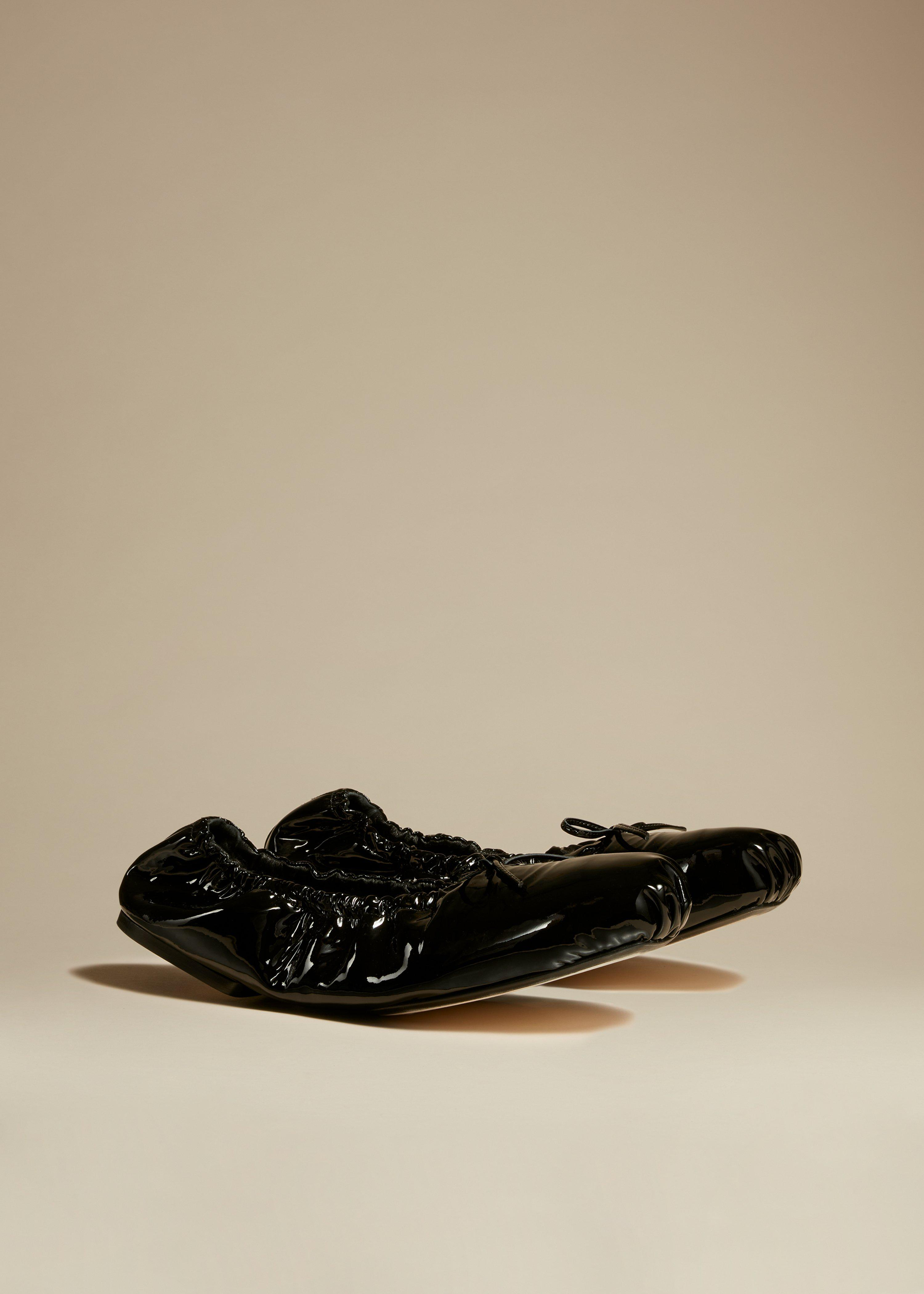 The Ashland Ballet Flat in Black Patent Leather 1