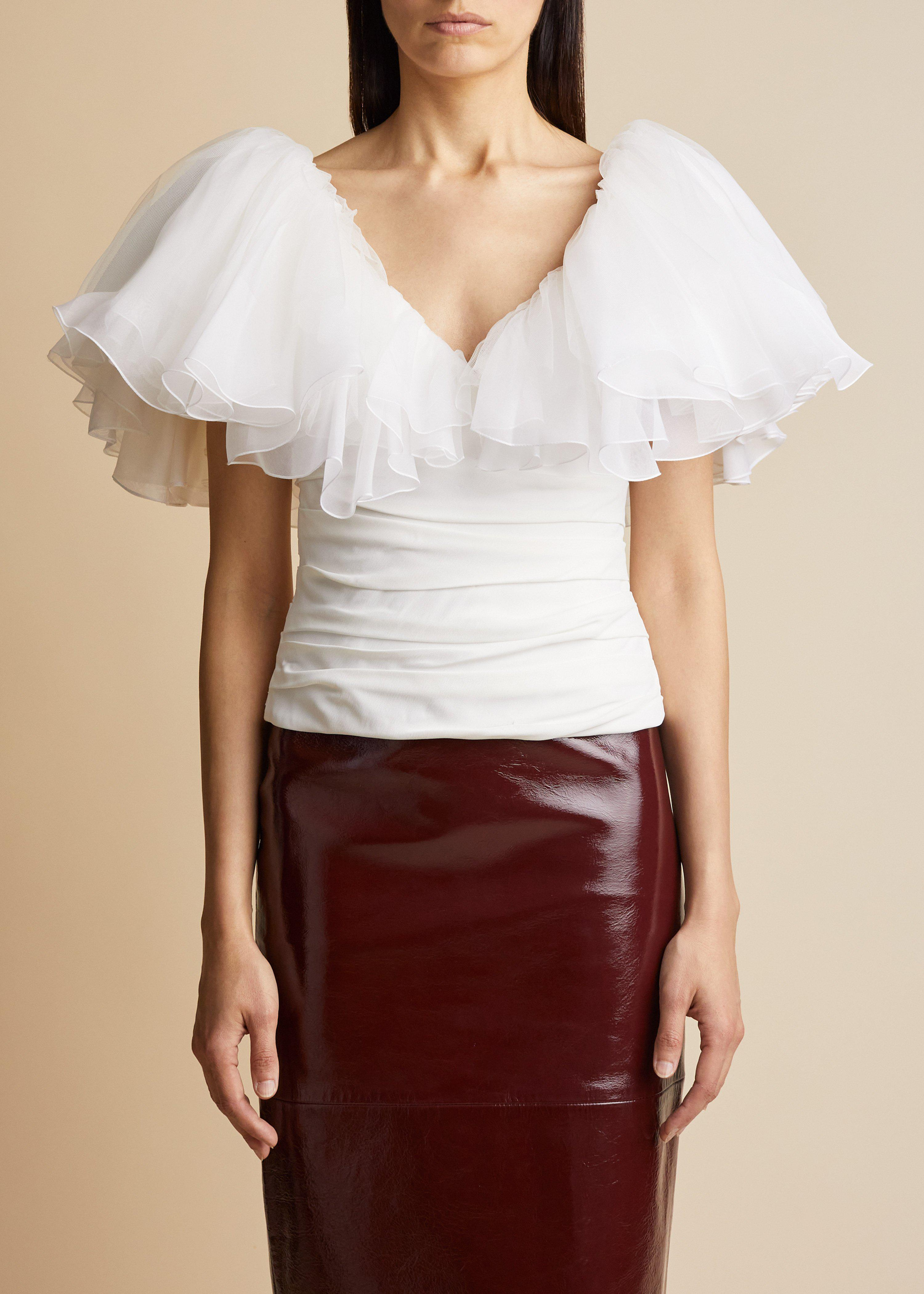 The Marca Top in Ivory