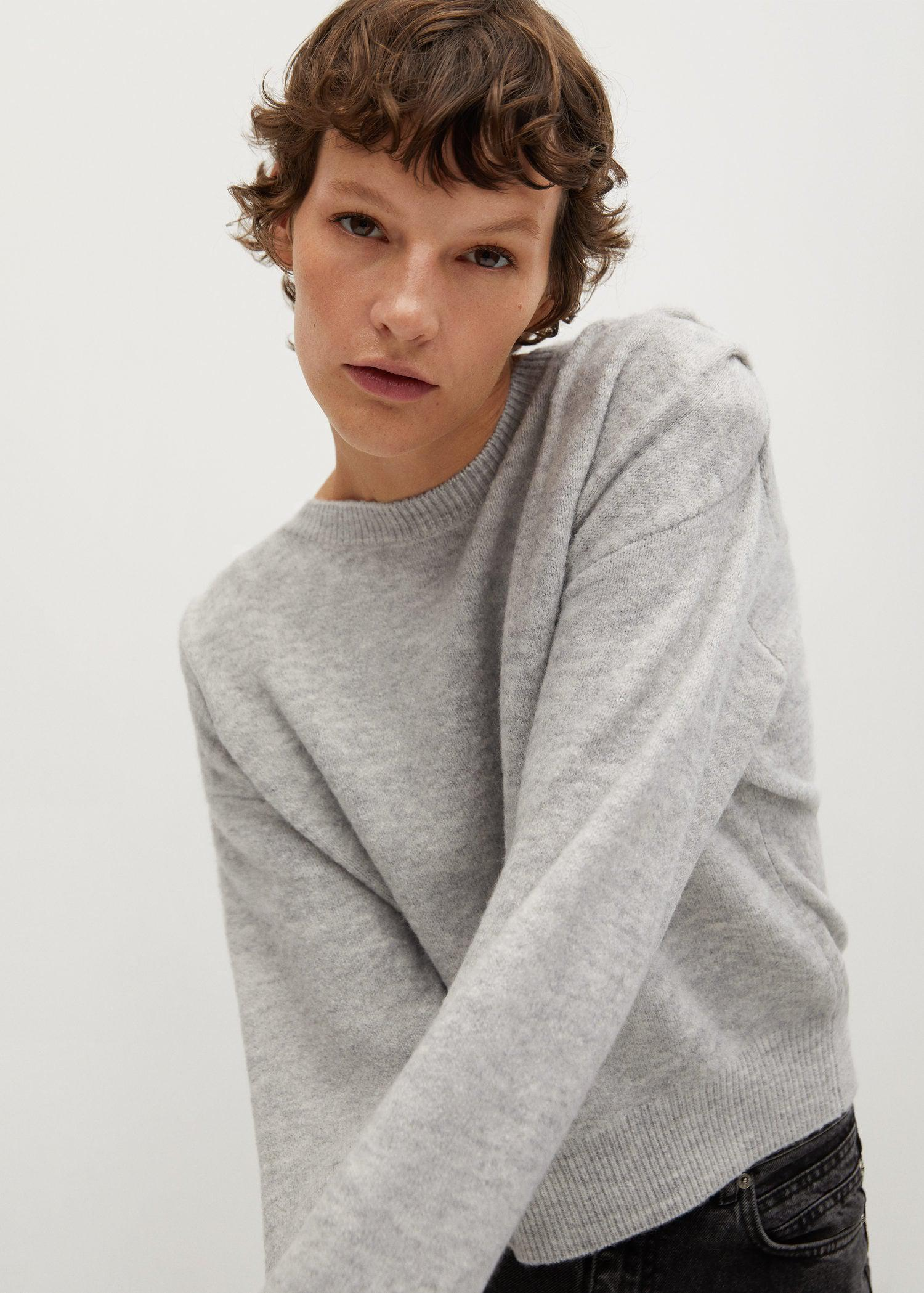 Pleated knit sweater 0