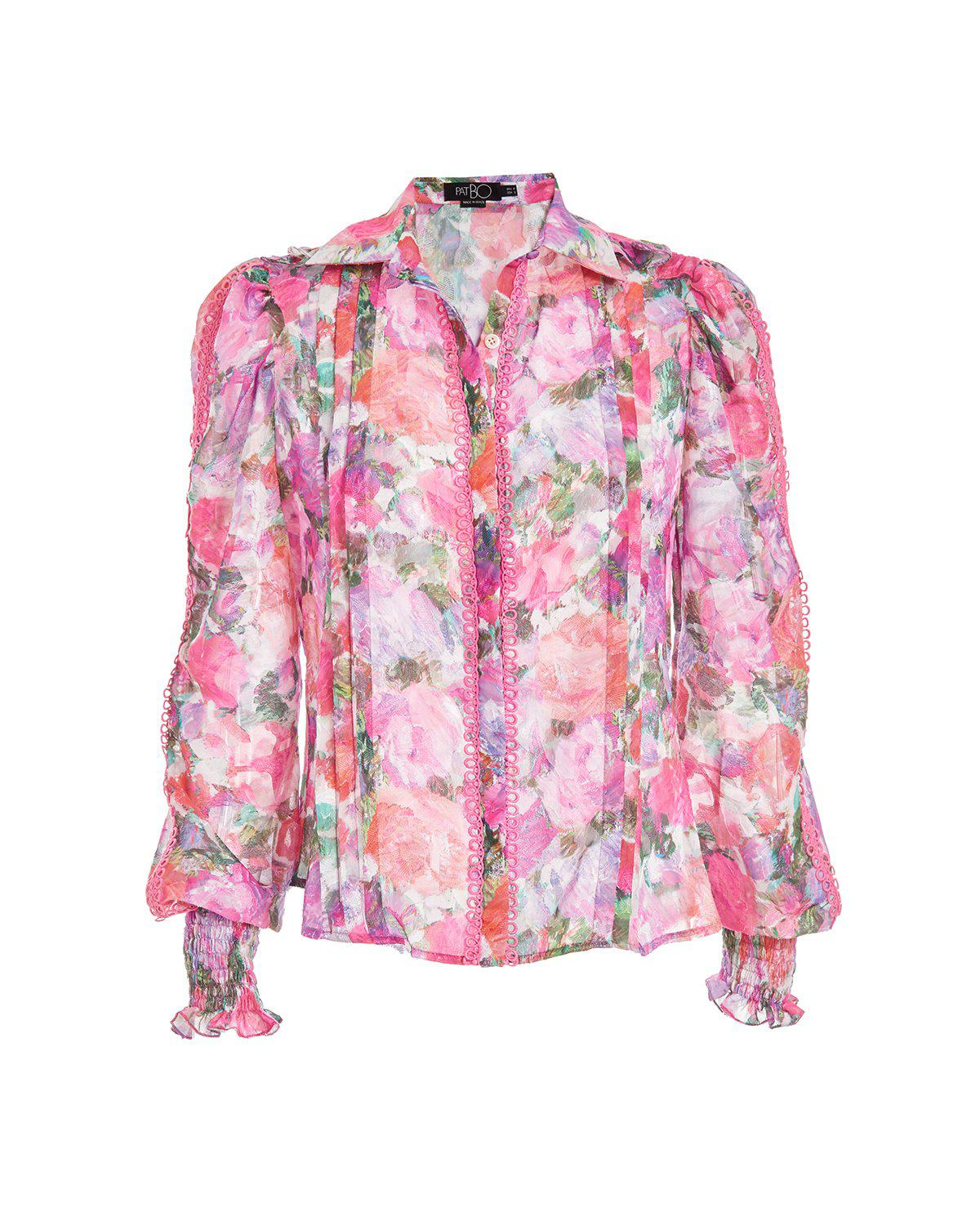 BLOSSOM BUTTON-FRONT BLOUSE 1