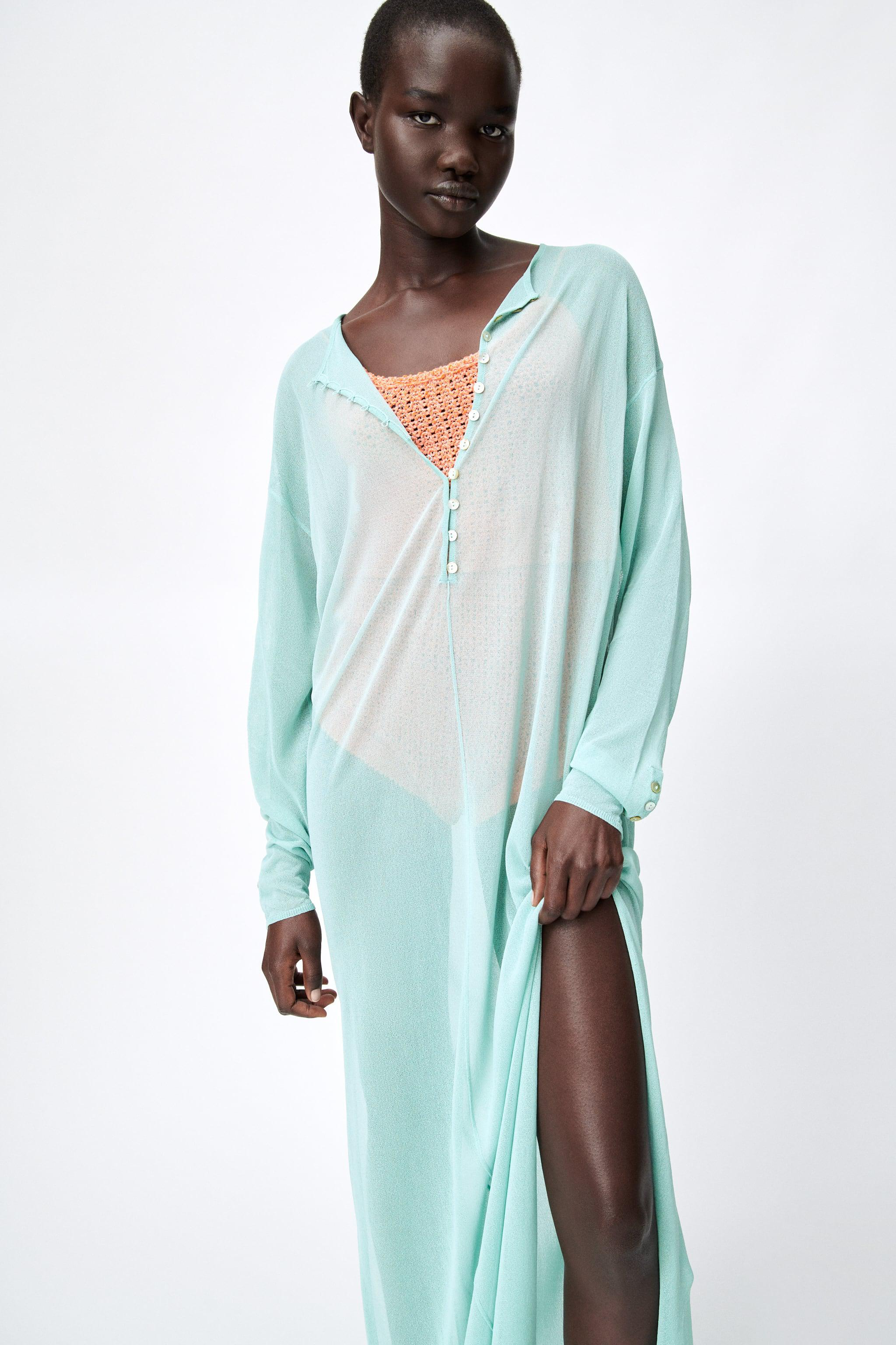 SEMI-SHEER KNIT TUNIC LIMITED EDITION 1