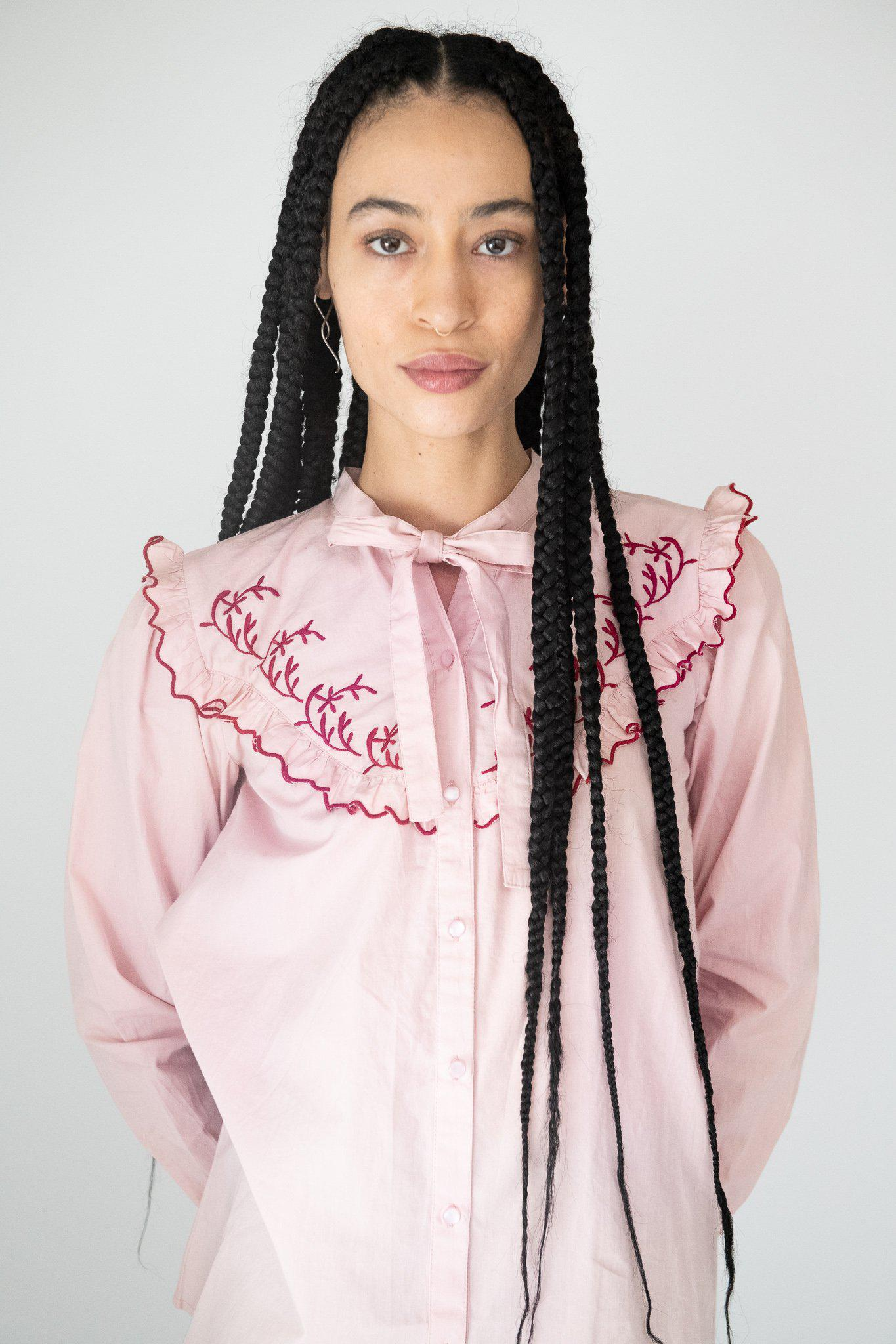 Lena Blouse in Pink 1