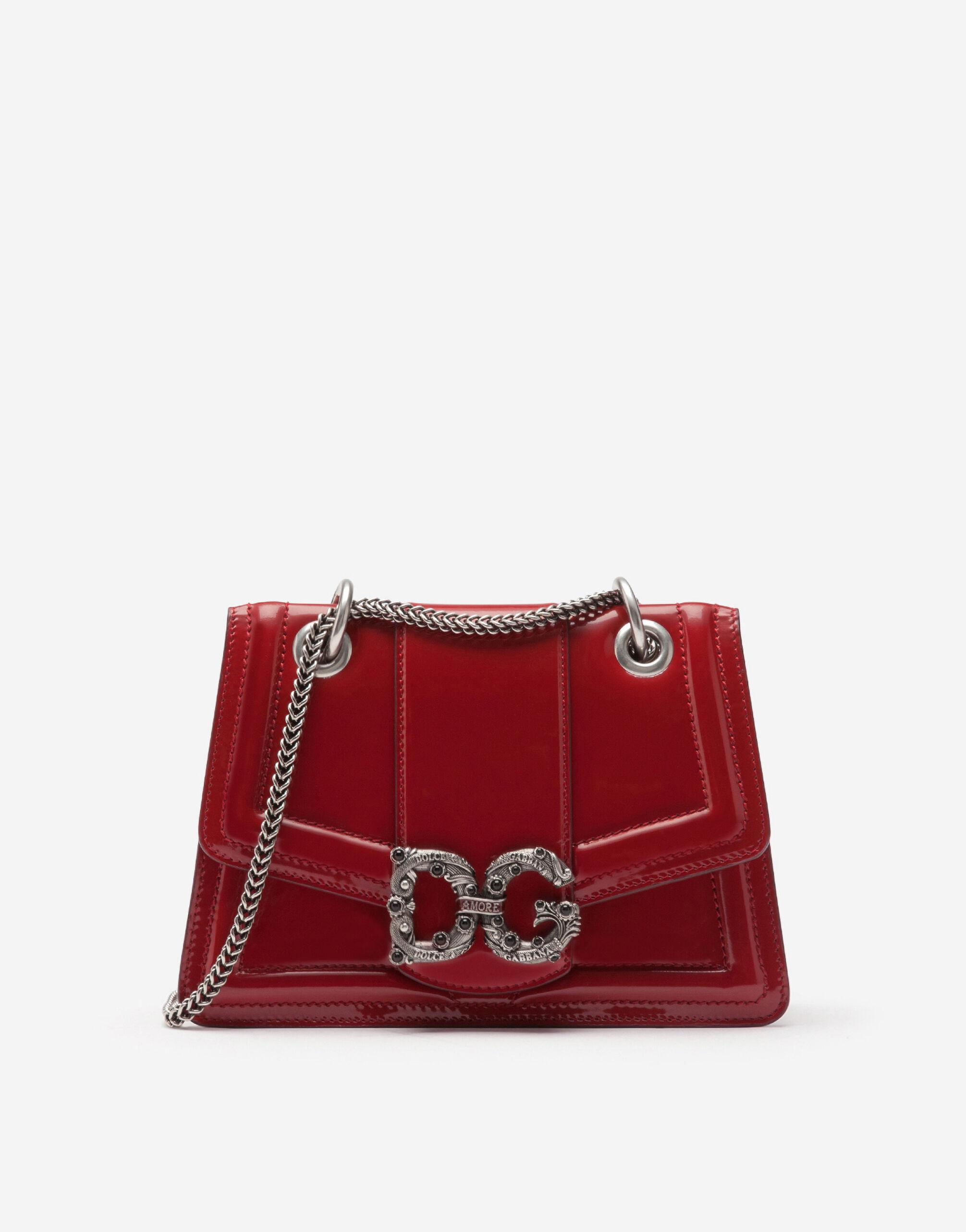 Small DG Amore bag in polished calfskin